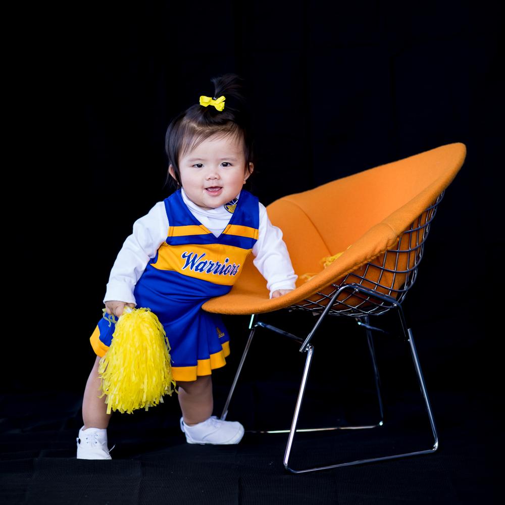 Daisy, 9 months Cheerleader