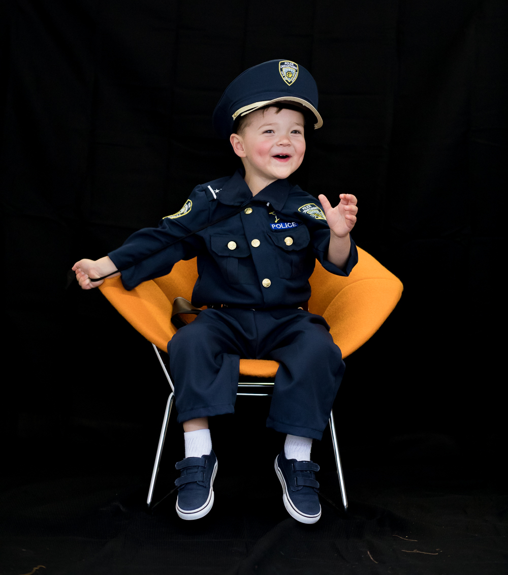 Cole, 3 years old Police Man