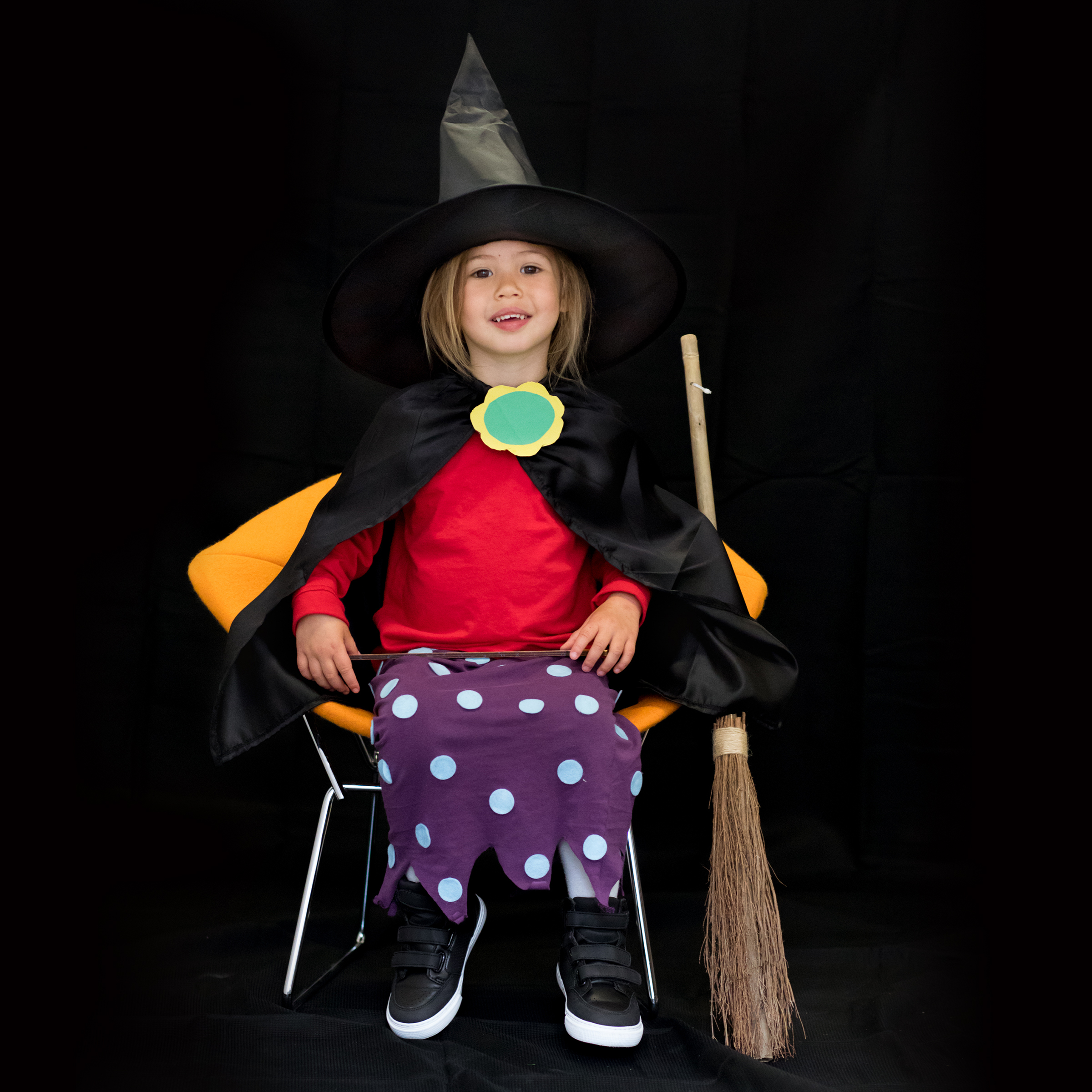 Colette, 4 years old Room on the Broom Witch