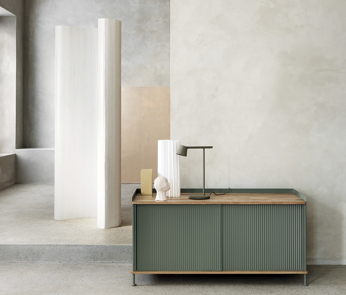 Muuto Enfold Sideboard and Tip Lamp