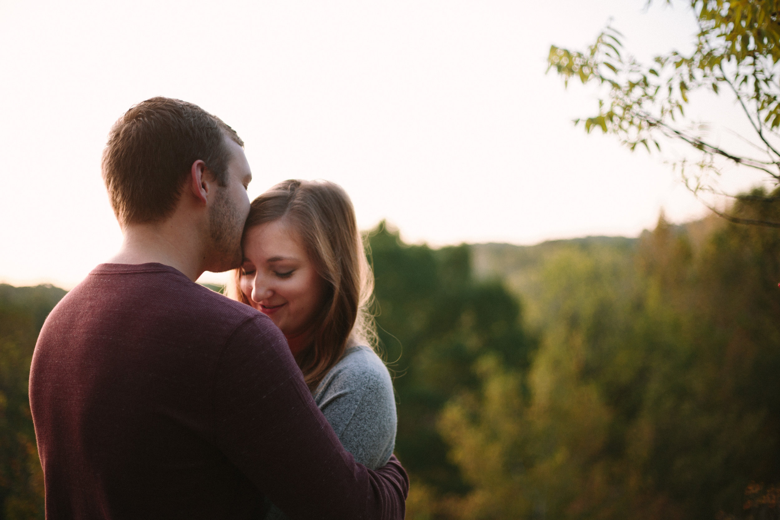 Adorable and Happy Sunrise Engagement session in Columbia, Missouri with Ashley Pieper Photography.St. Louis based traveling and destination wedding photographer for the genuine and creative couple in love.