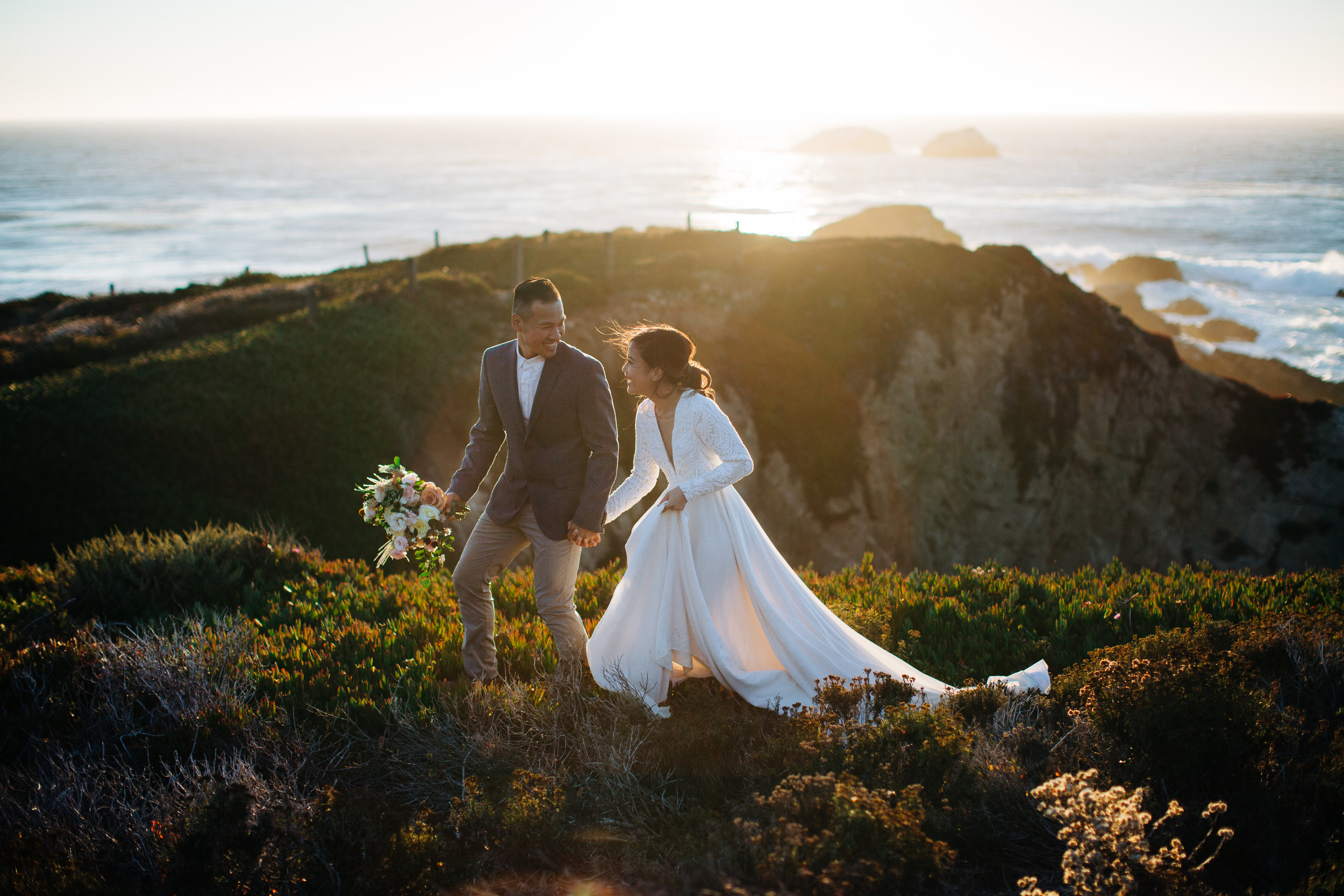 Ashley Pieper Photography | Big Sur California Elopement | Kirsten Paige Wedding Dress