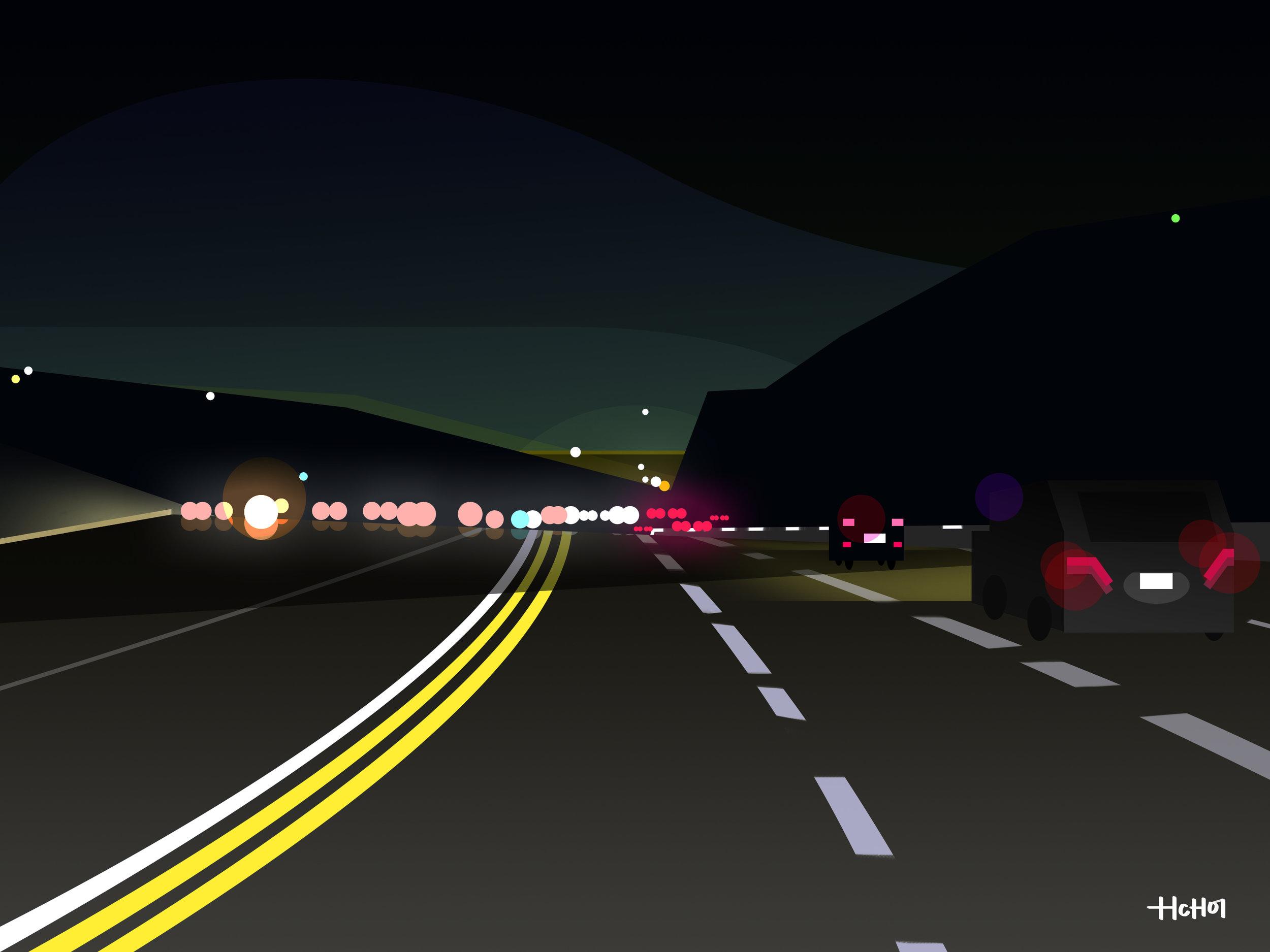 405 freeway by mulholland drive. LA
