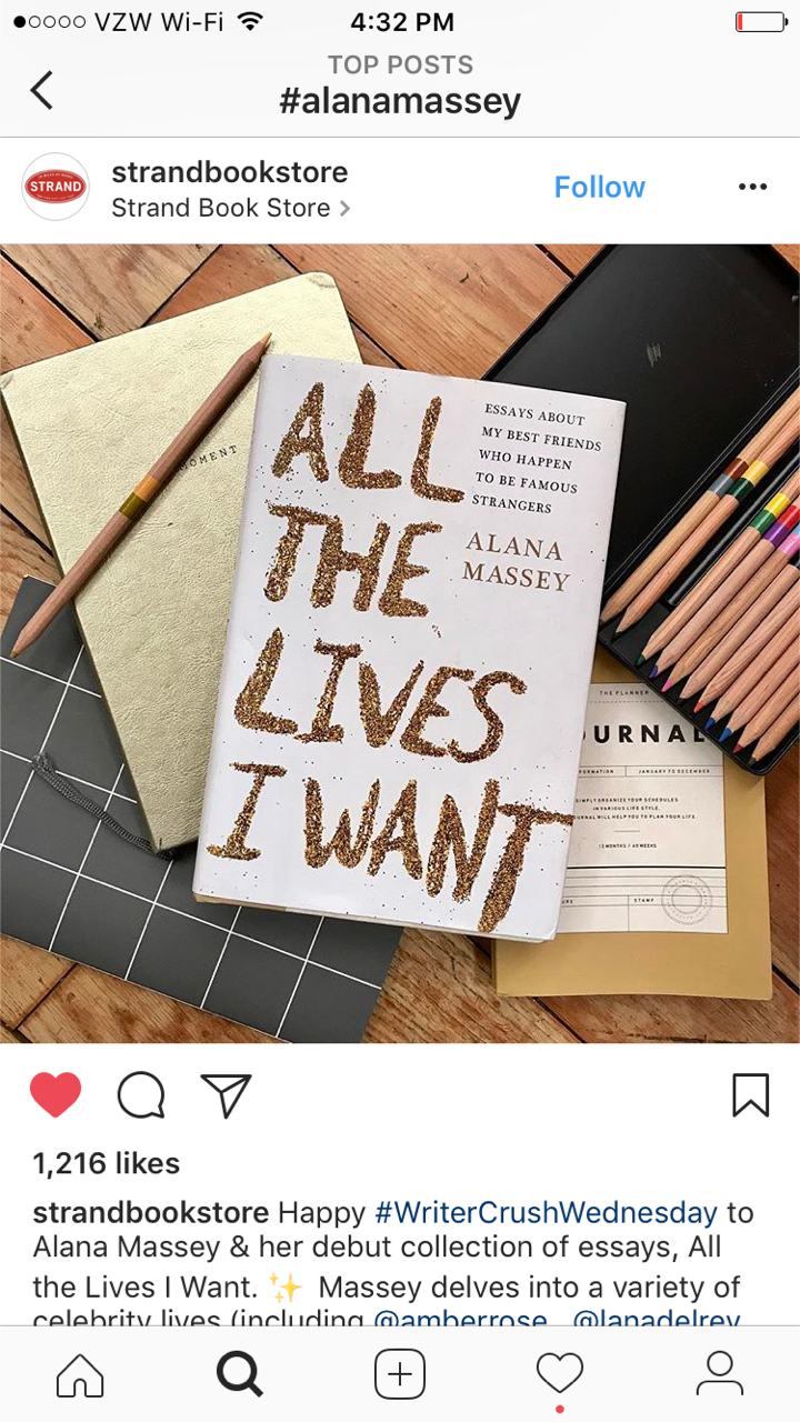 MEANWHILE ON INSTAGRAM, The Strand declared me their #WriterCrushWednesday and it got me pregnant almost immediately. - The baby is due in November and it is actually a book.