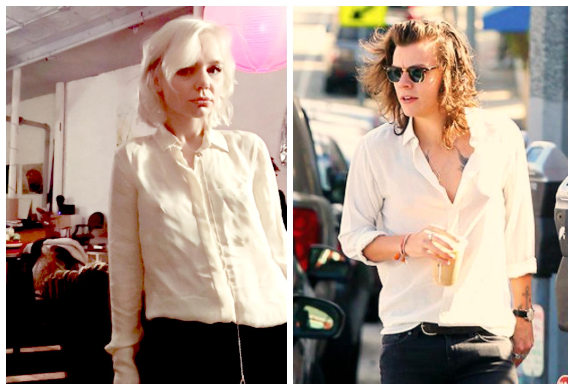 Alana Massey Harry Styles Cream Blouses.jpg