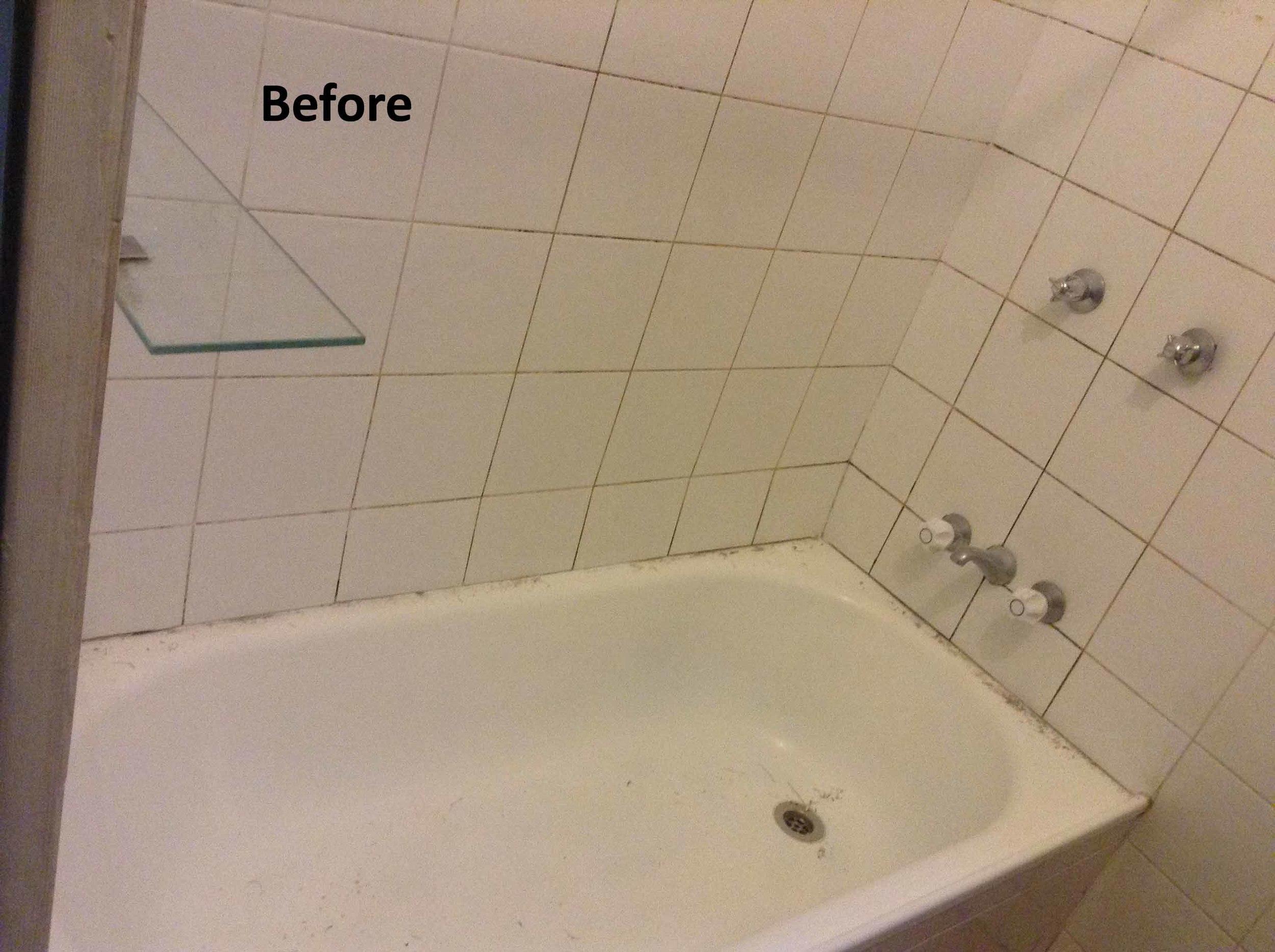 Leaking Shower Bath, Before shower repair.