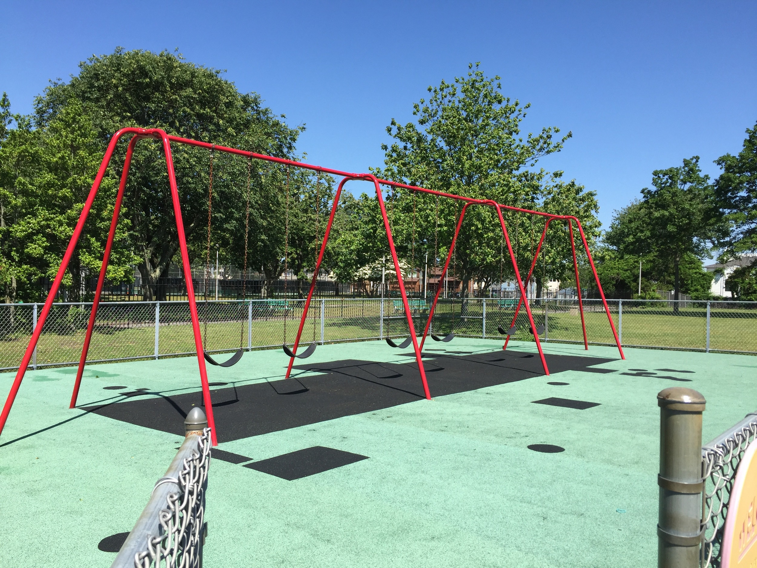 Swings at Newbridge Playground