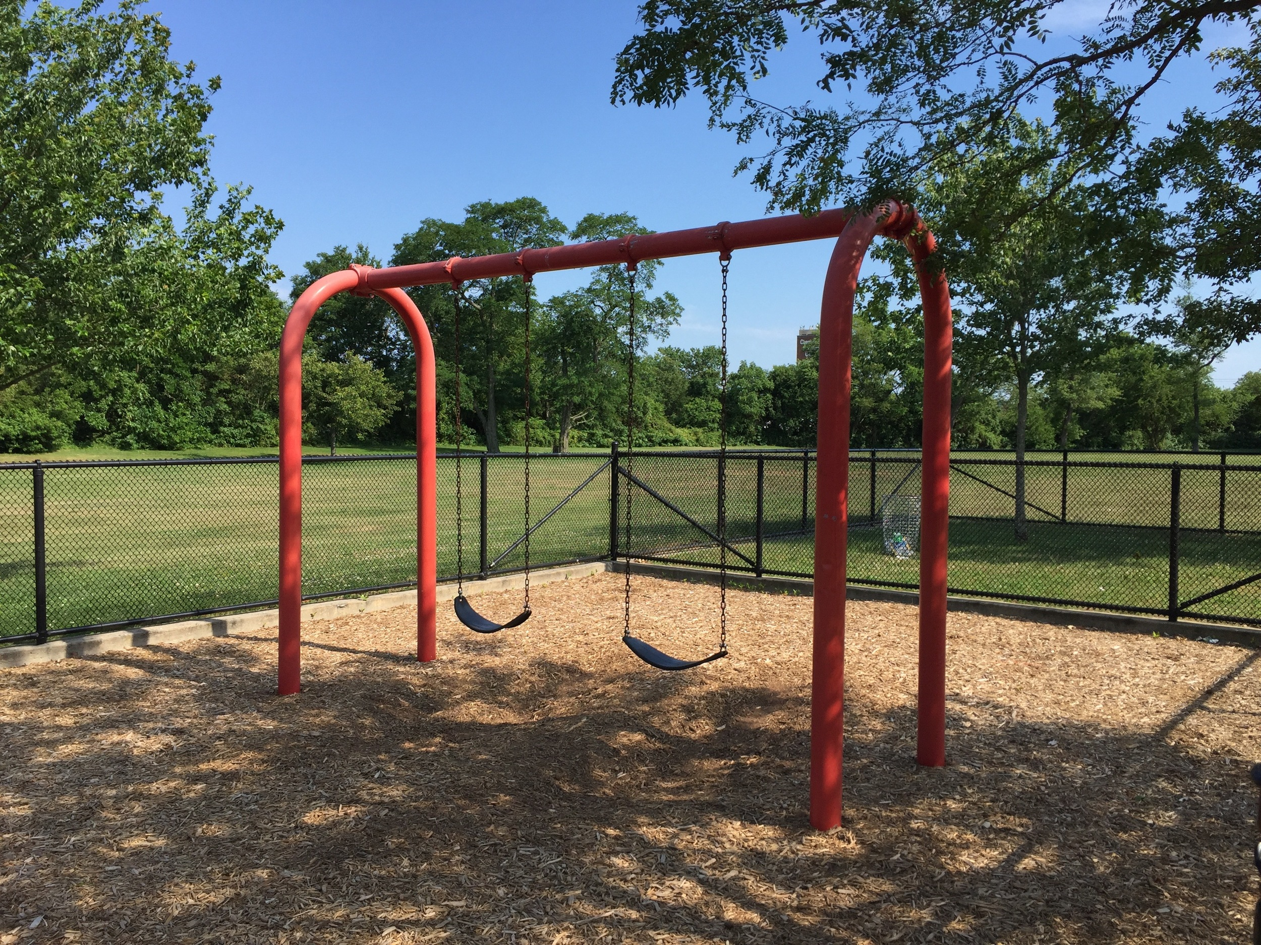 Swings at Duckpond Dr Park