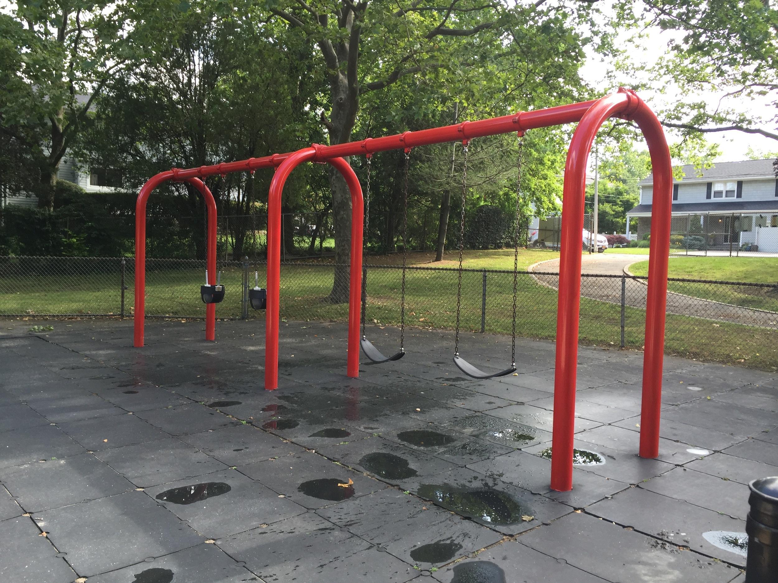 Swings at Fraser Ave Playground