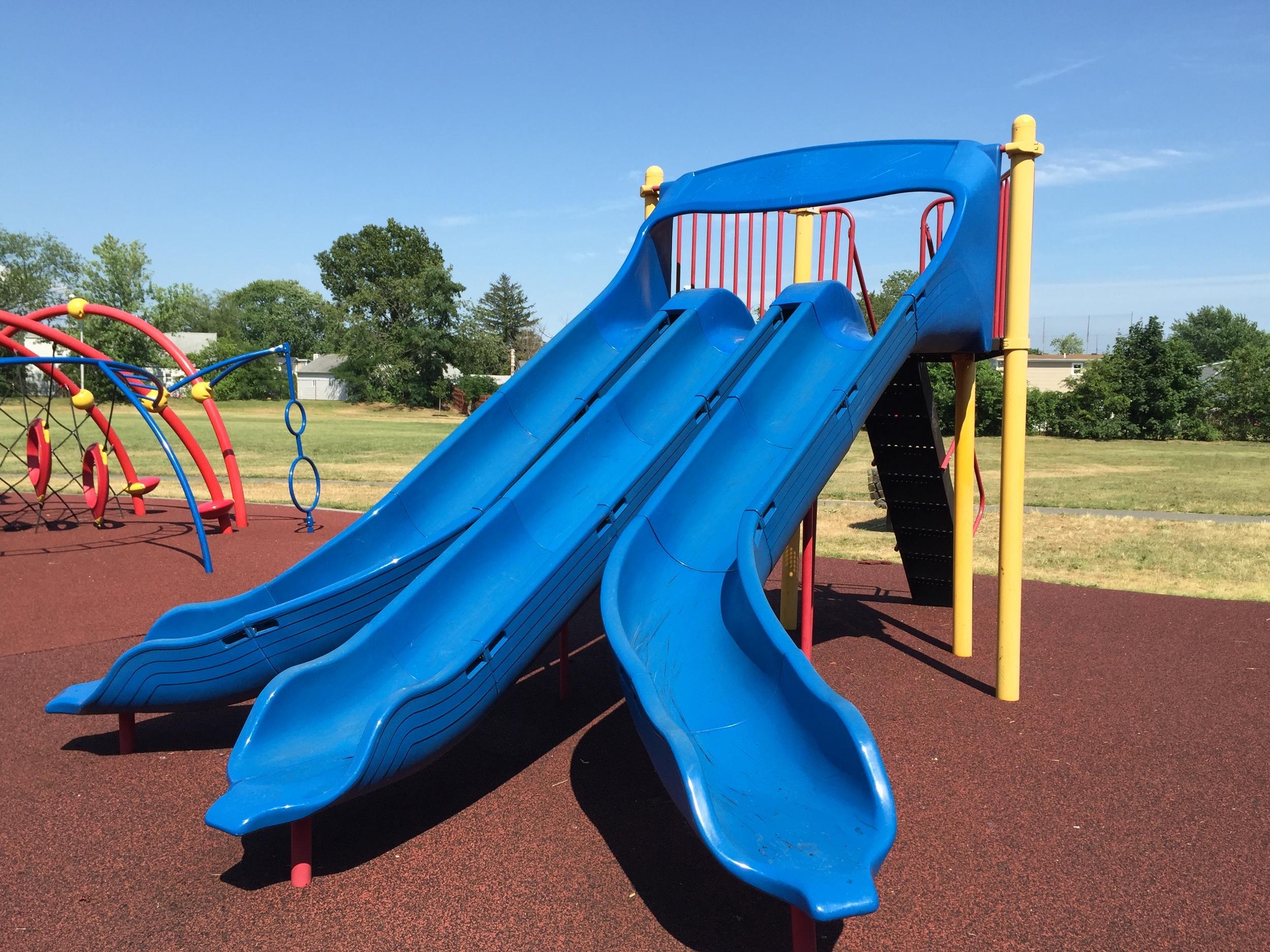 Triple slides at Michel Park