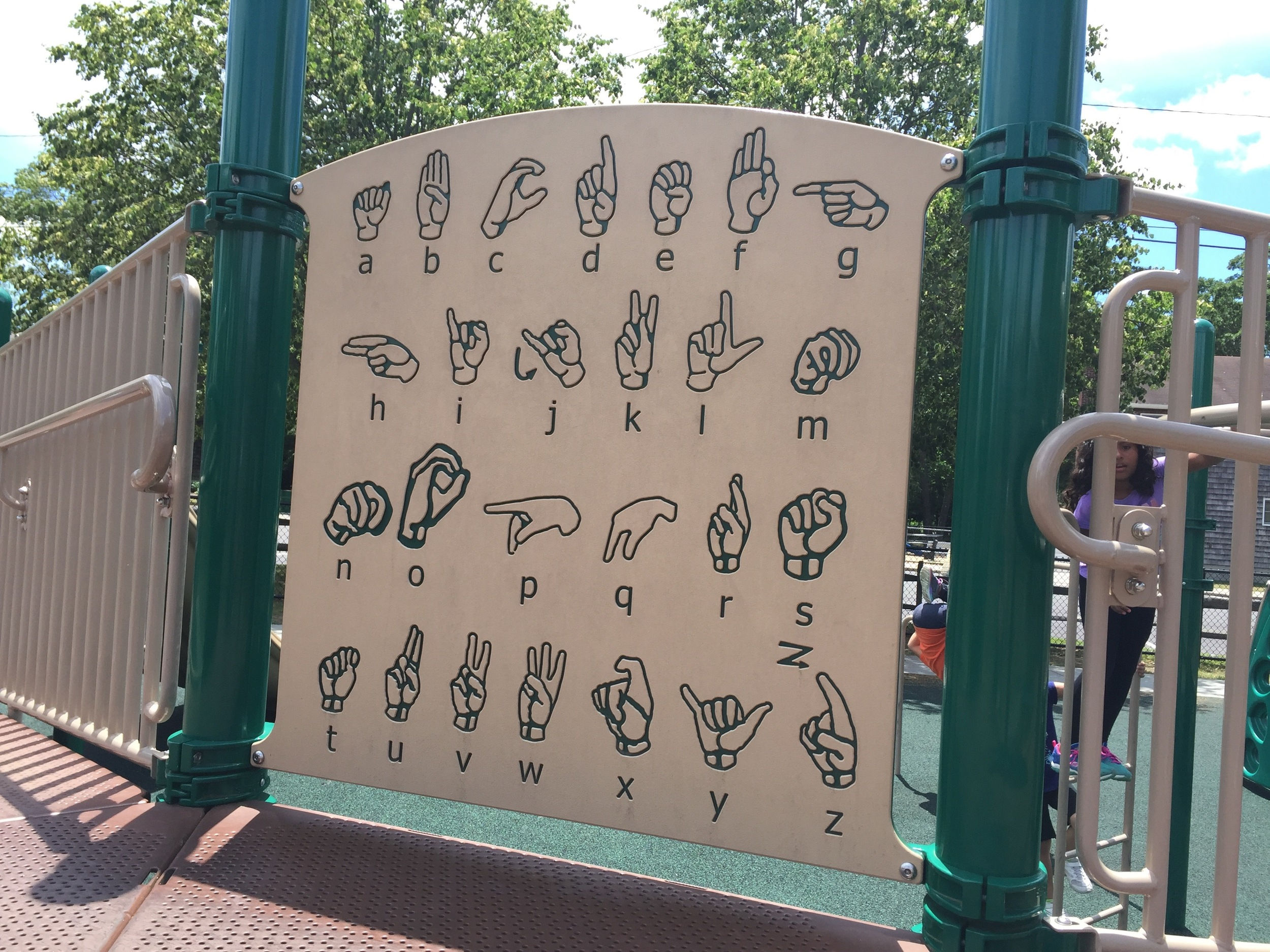 Sign language sign at Brookwood Hall Park