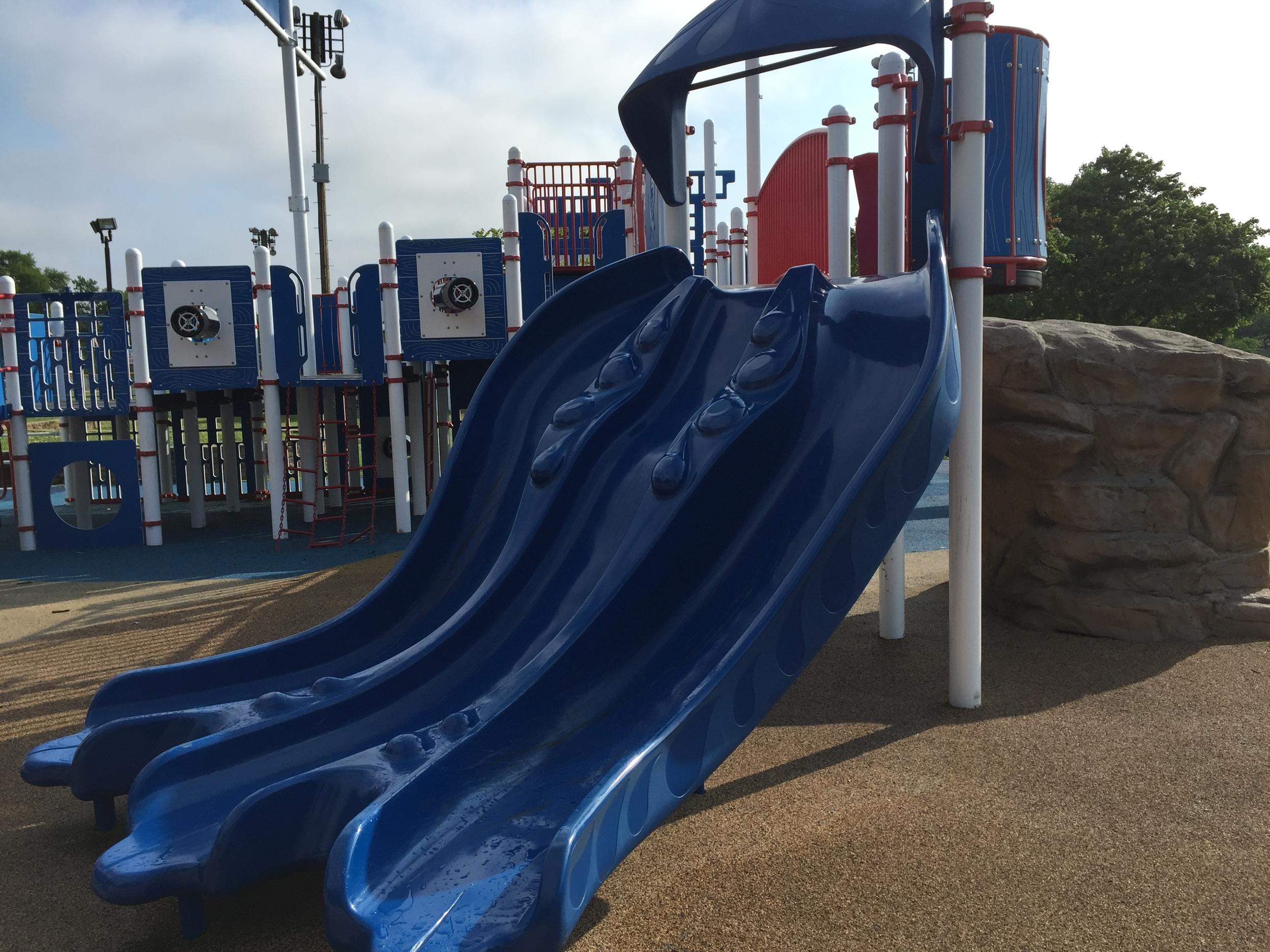 Slides at Phelps Lane Park