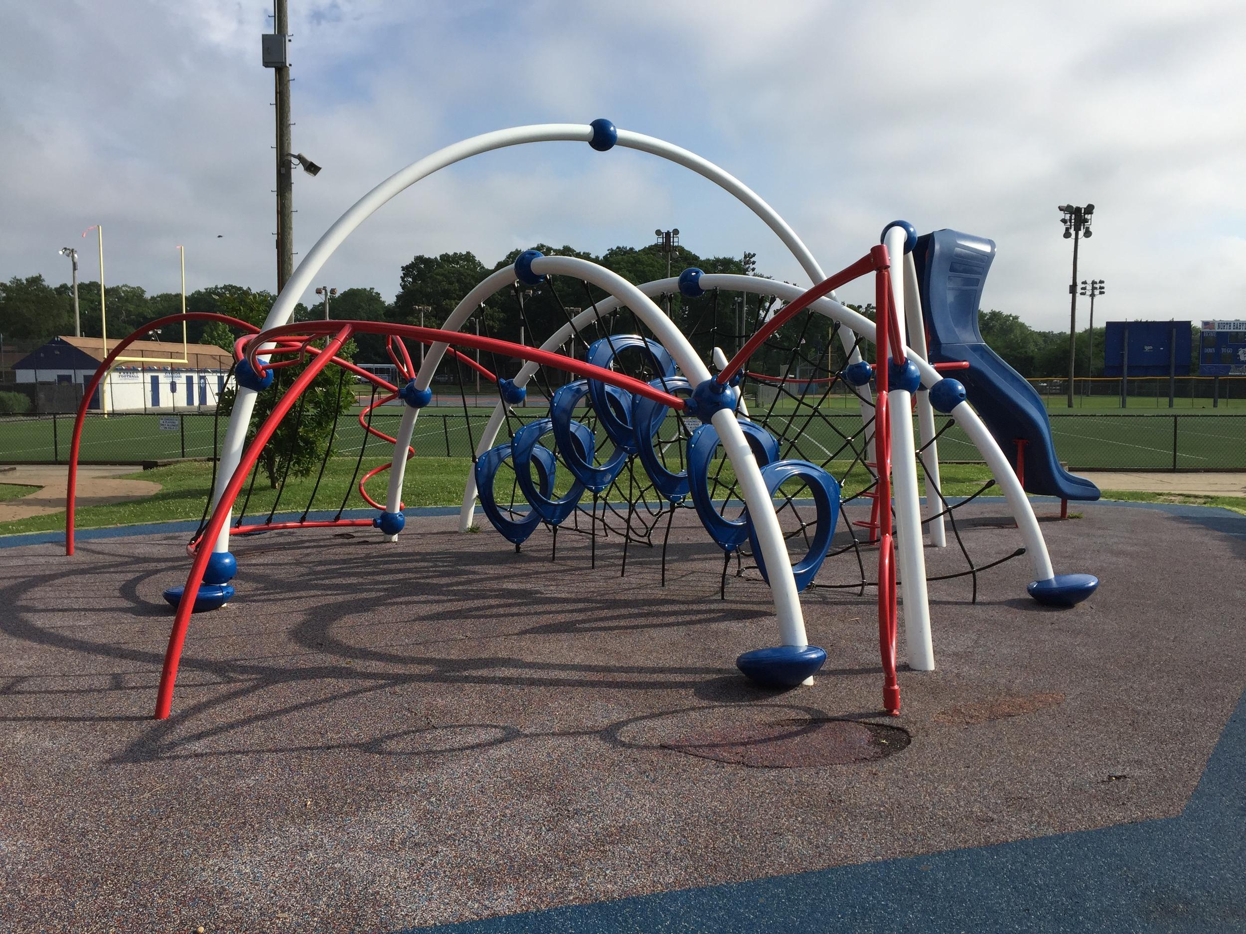Rope climb playground at Phelps Lane Park