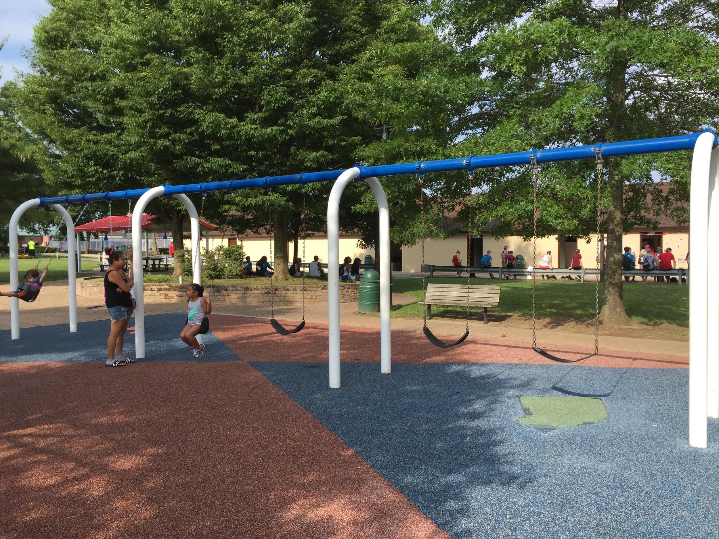 Swings at Phelps Lane Park