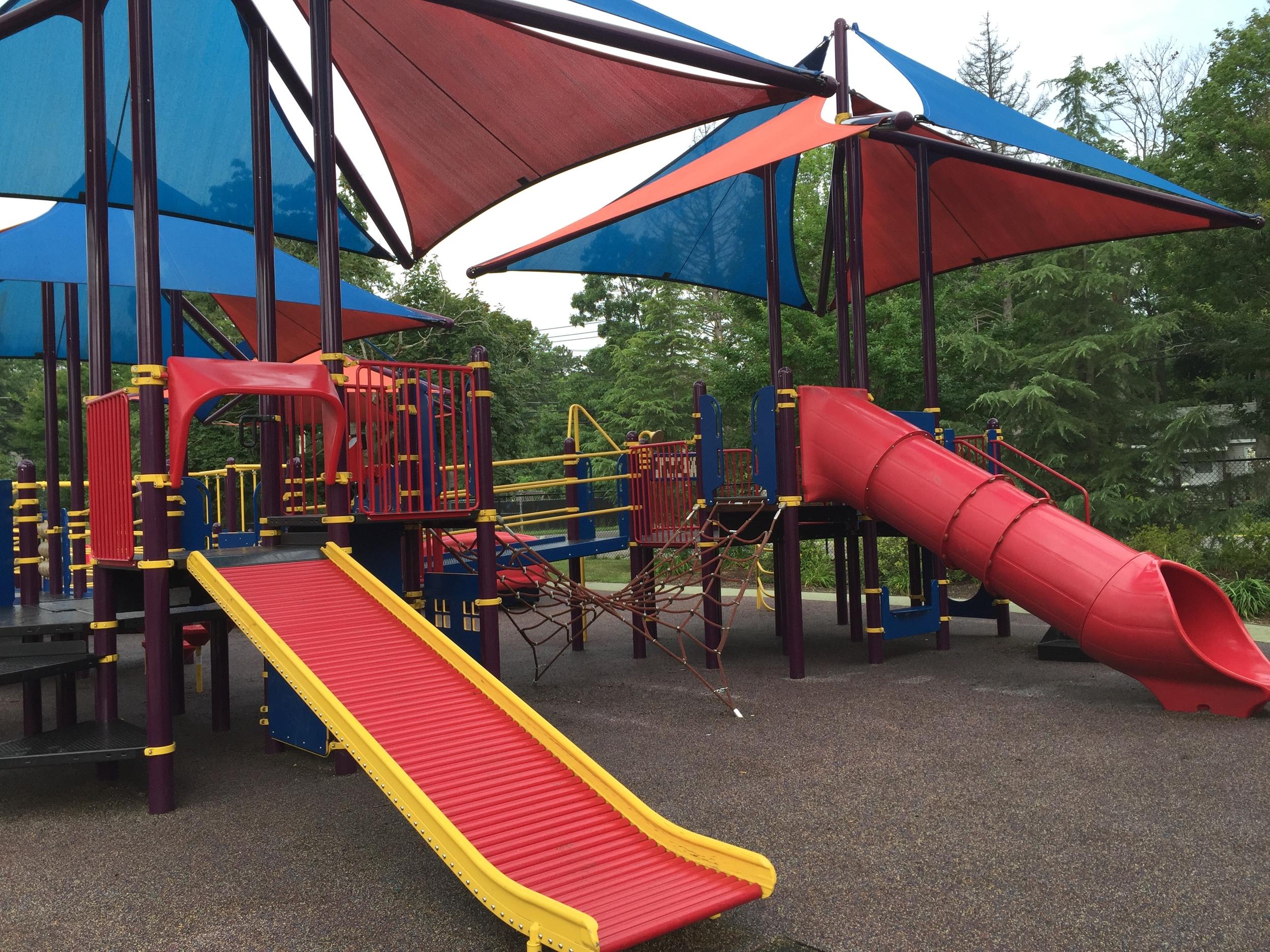 Roller slide at Pine Acres Playground