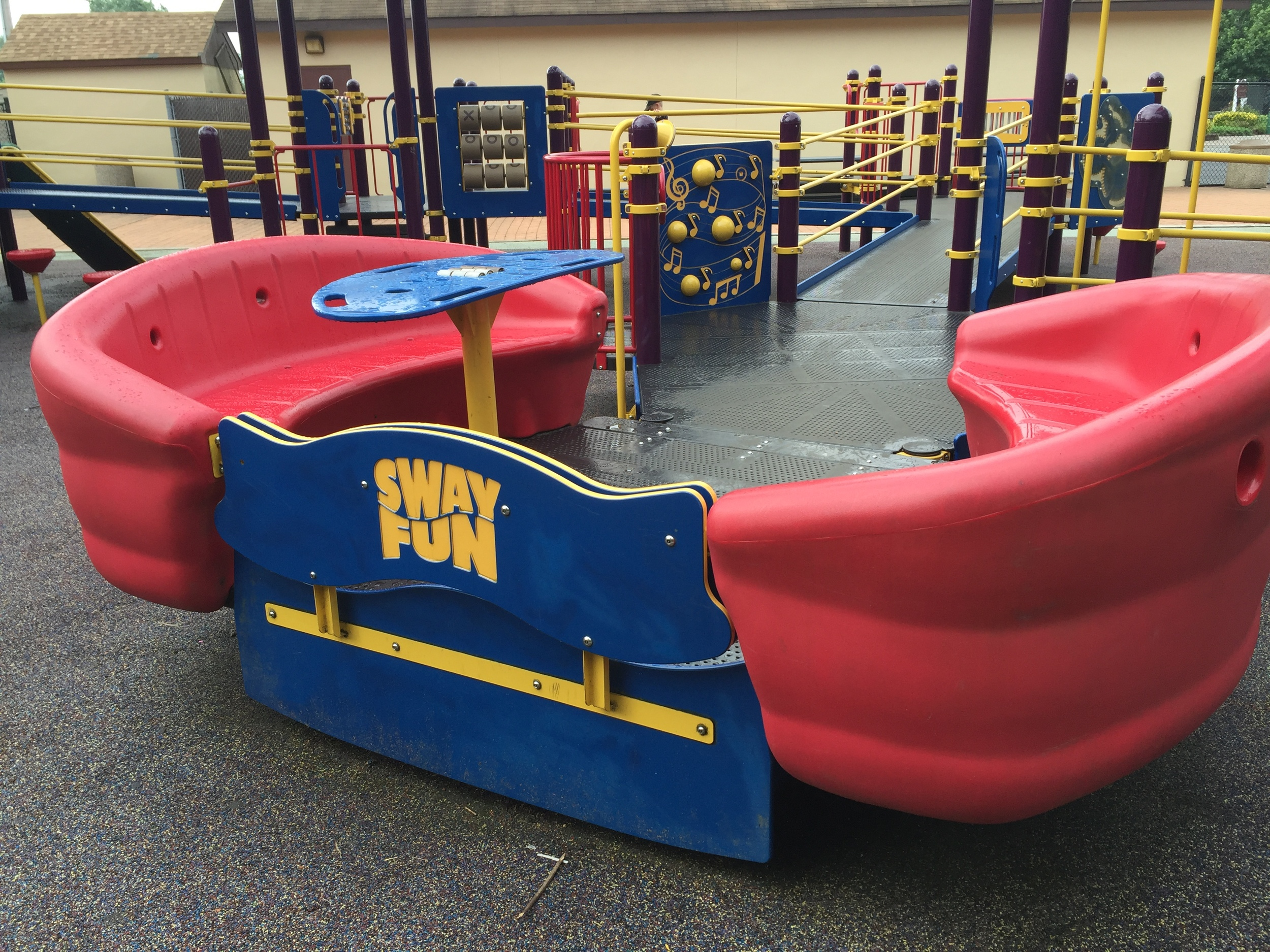 Sway booths at Pine Acres Playground