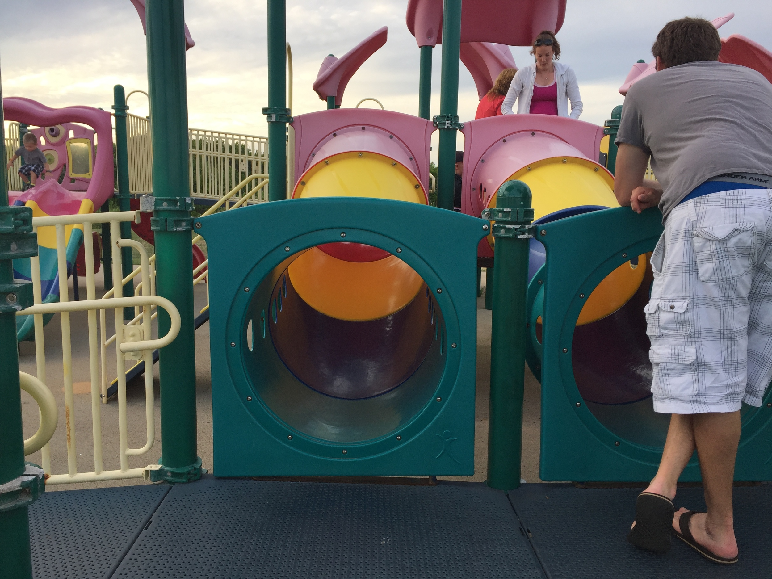 Tuennels at Boardwalk Playground at Jones Beach