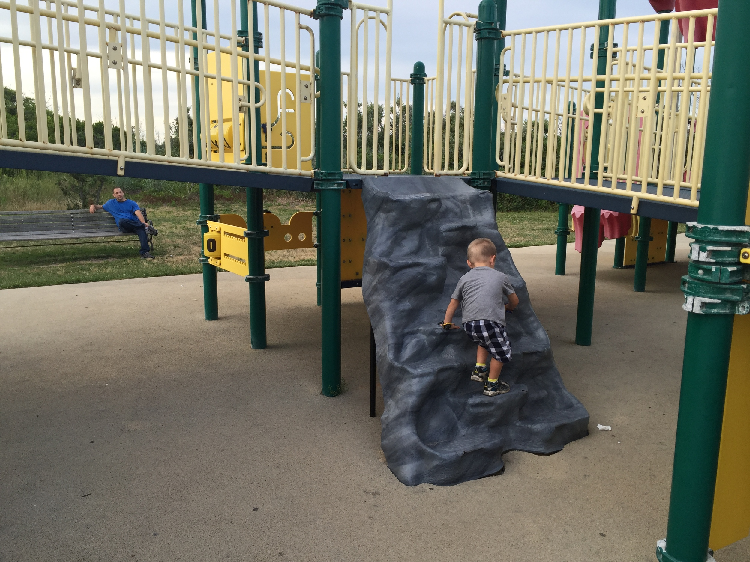 Rock climb at Boardwalk Playground at Jones Beach