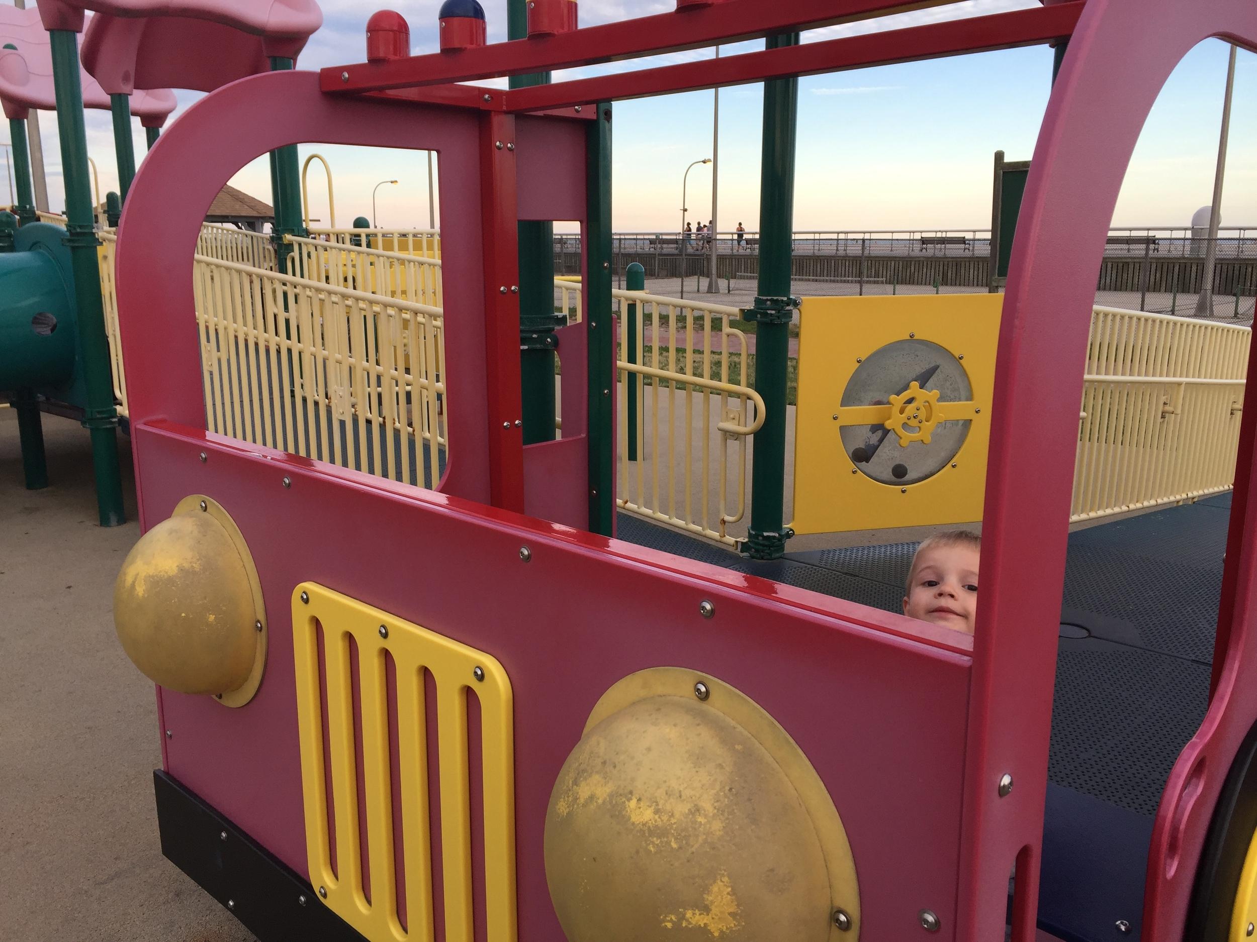 Play truck at Boardwalk Playground at Jones Beach