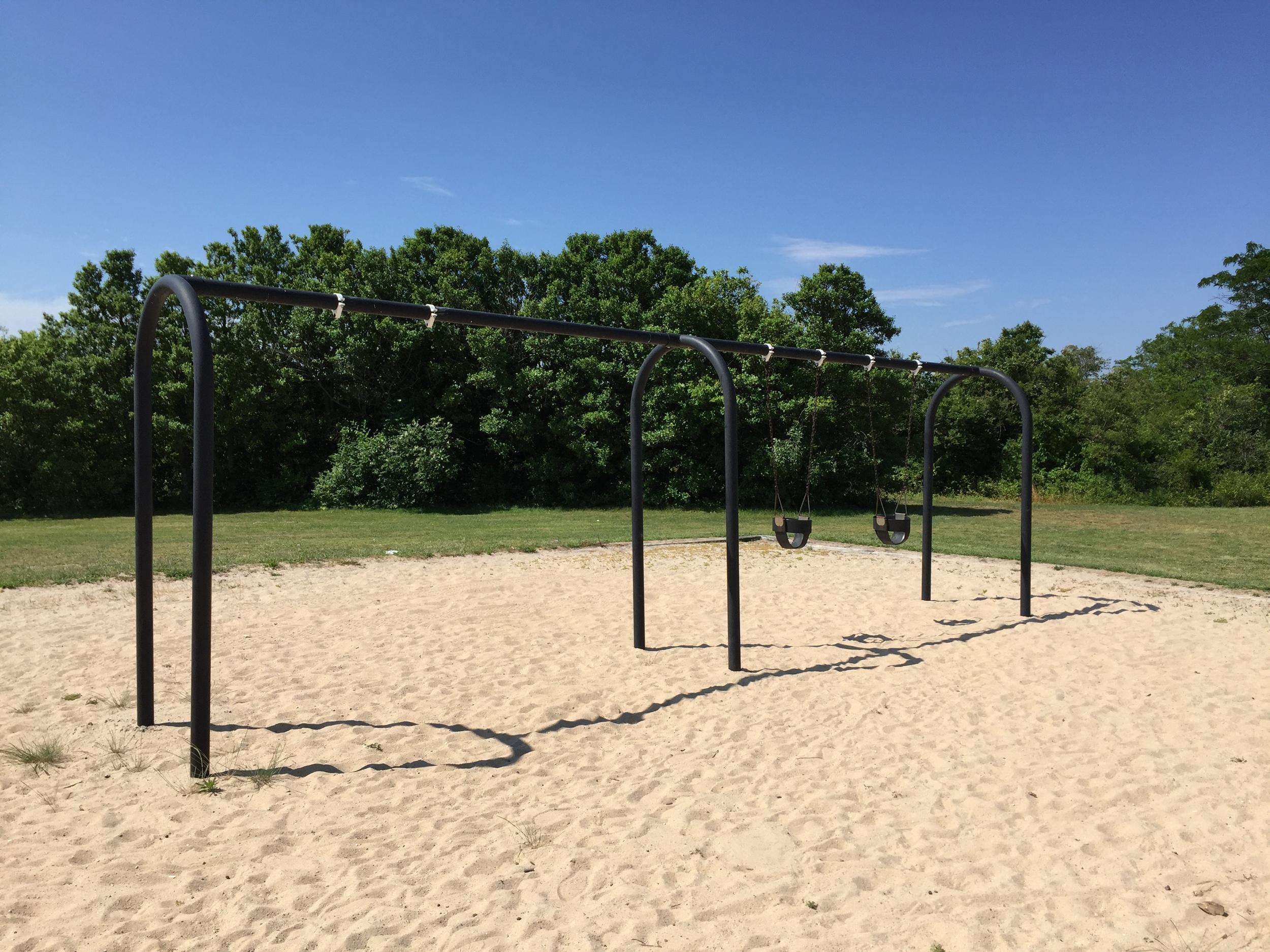 Swings at Cow Meadow Park