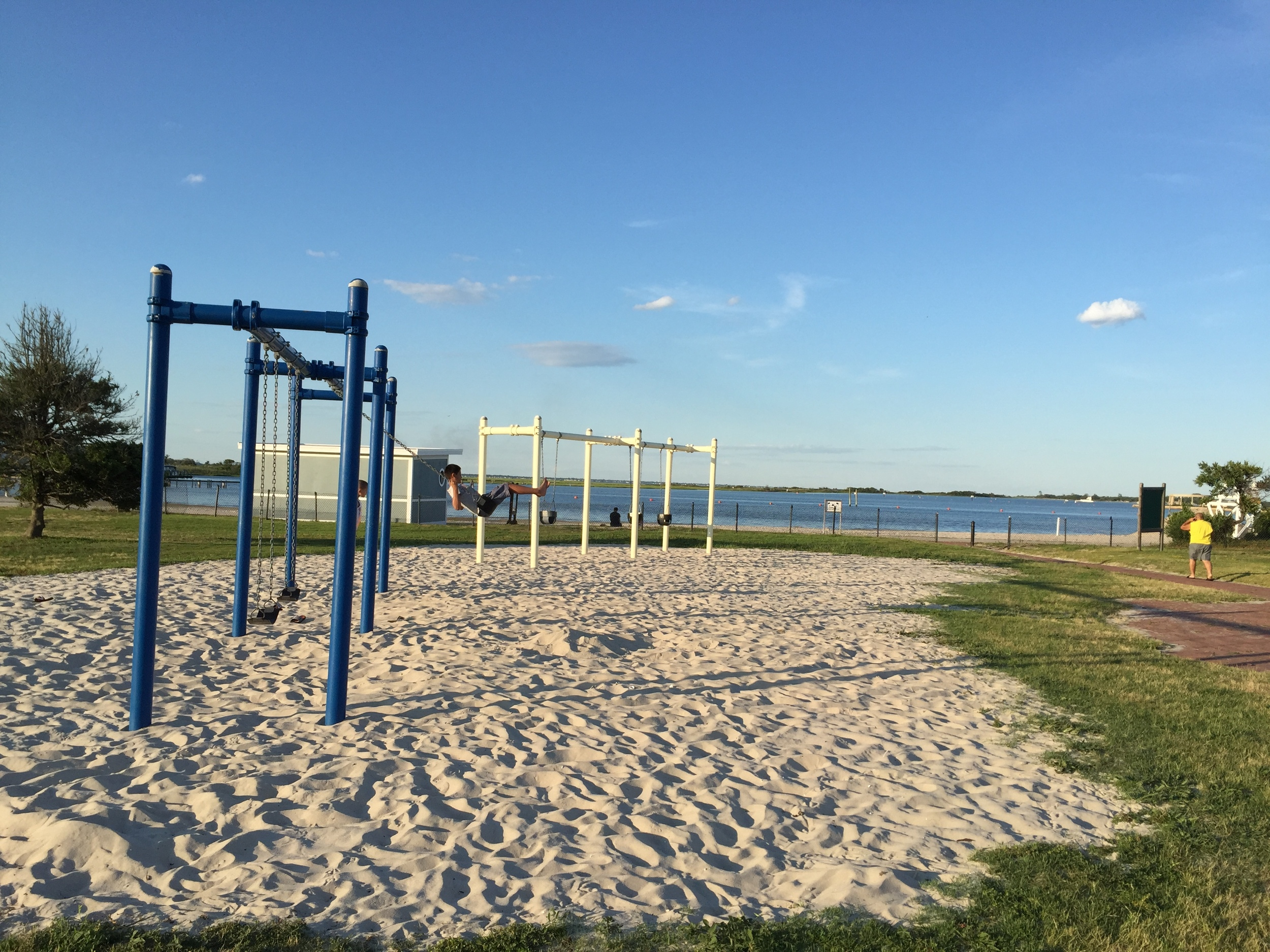Field 5 swings at Jones Beach