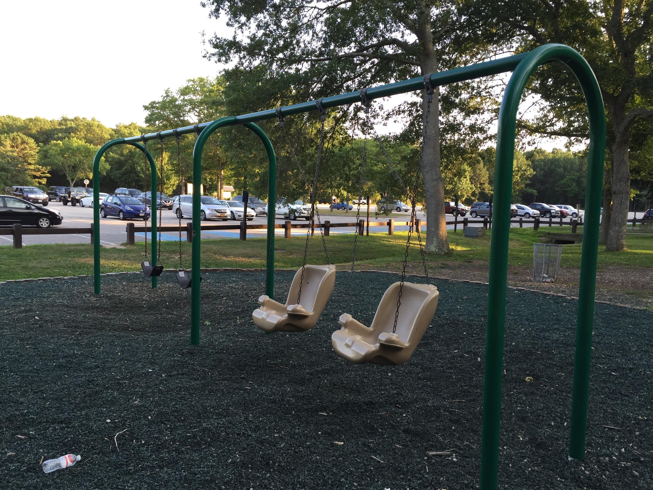 Big kid swings at Bethpage State Park