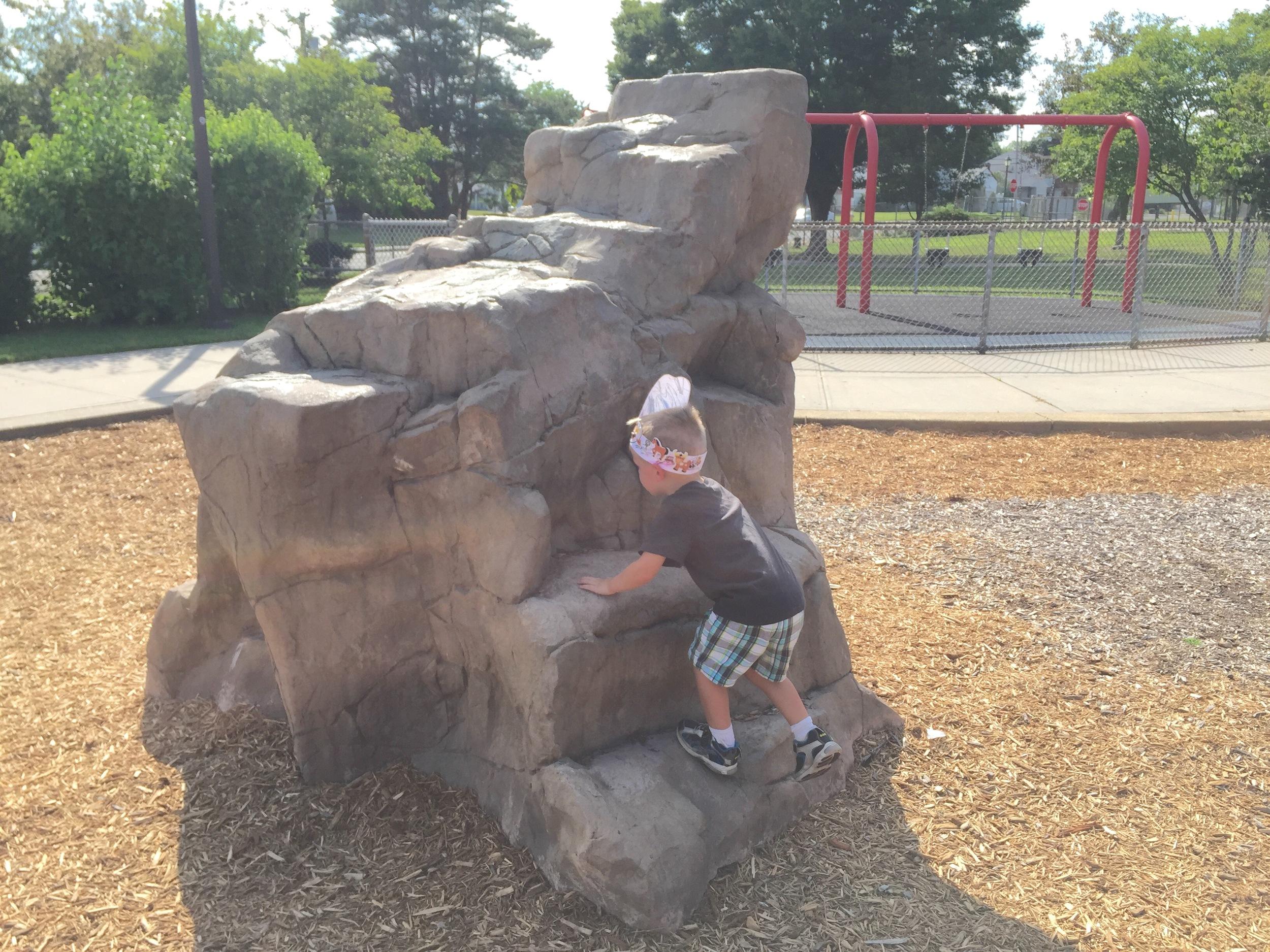 Rock climb at Senator Speno Park