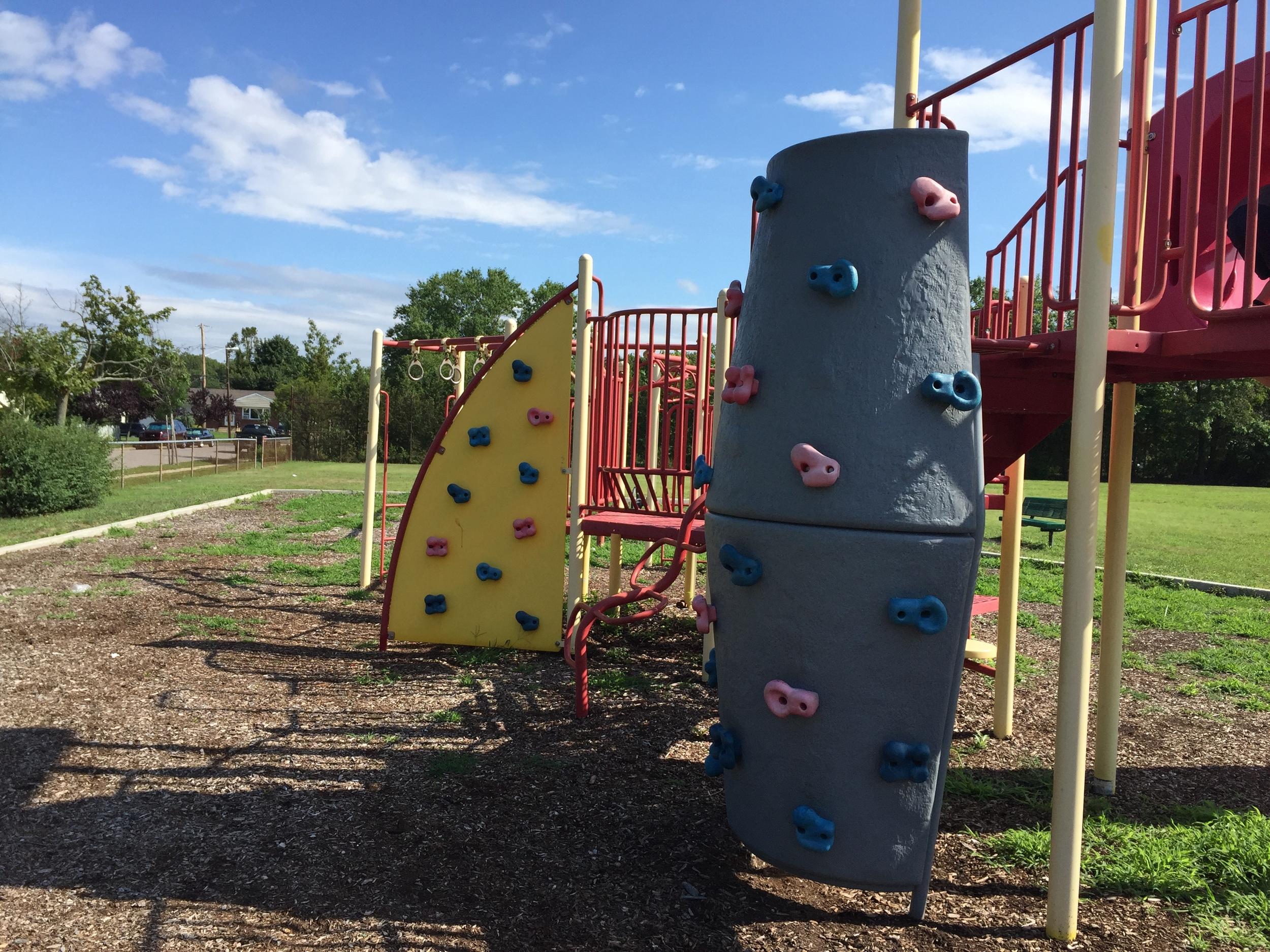 Rock Climb at Rose St Playground