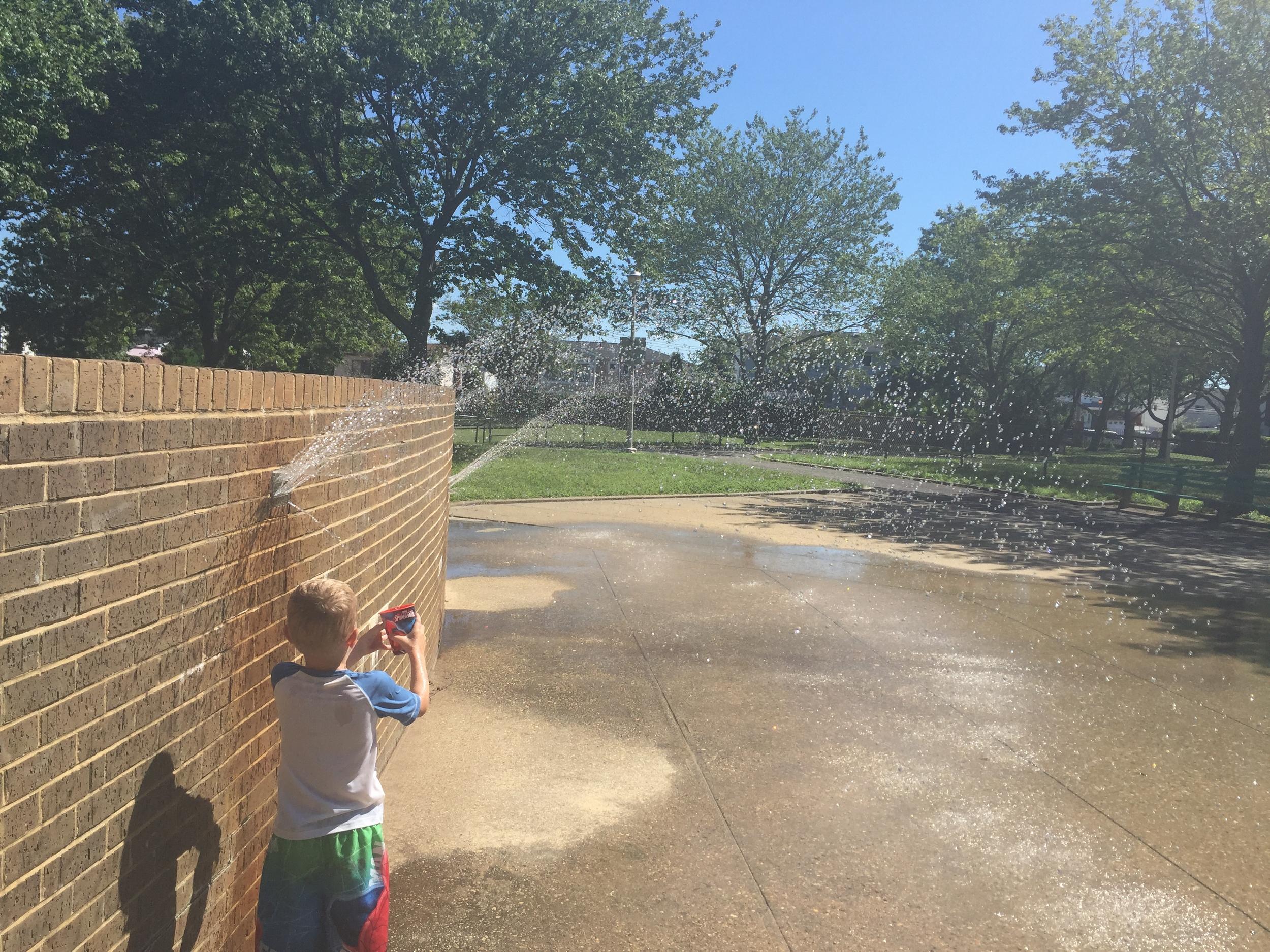 Sprinklers at Baldwin Park