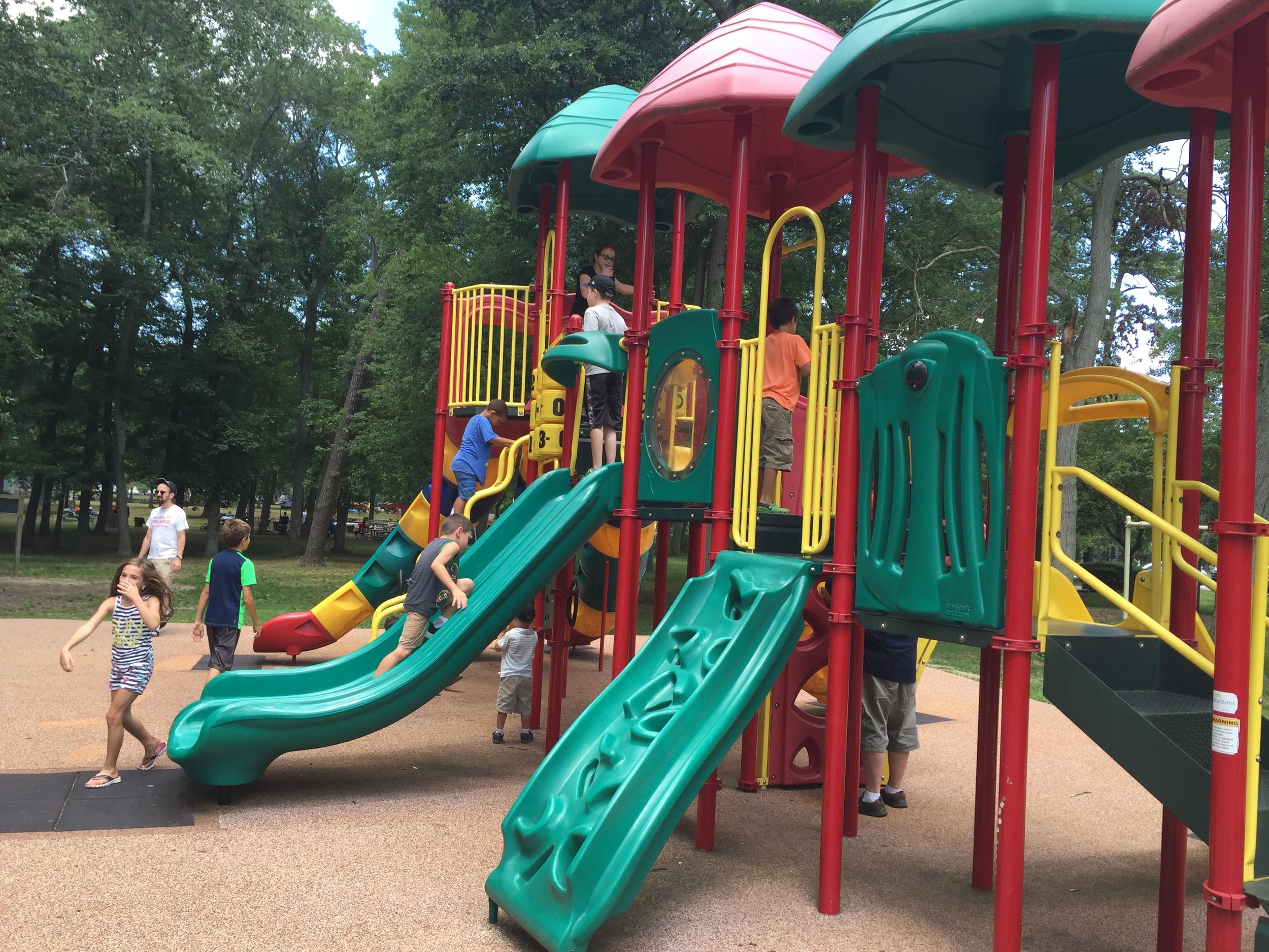 Big kid playground at Belmont Lake State Park