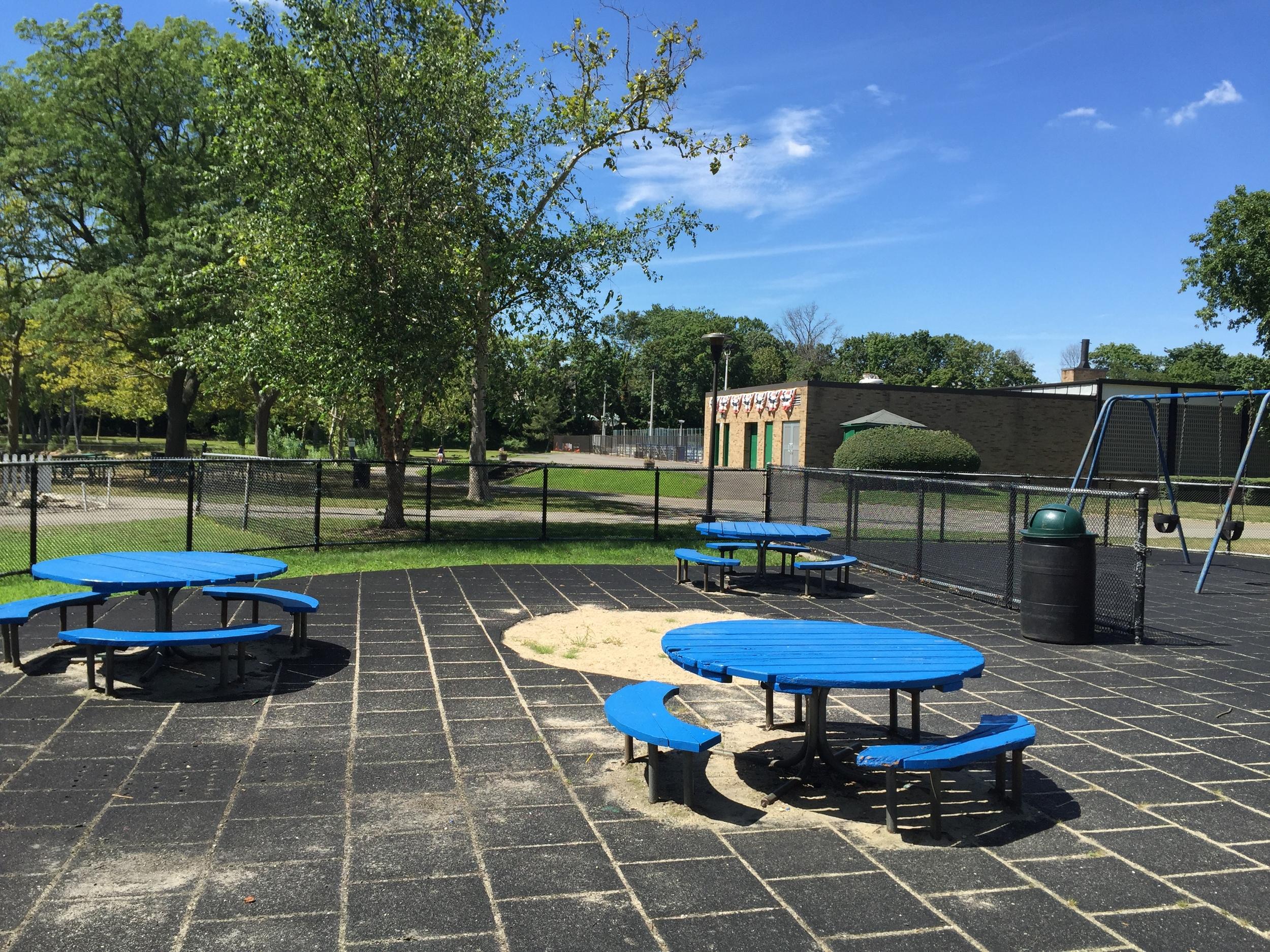 Tables at Grant Park