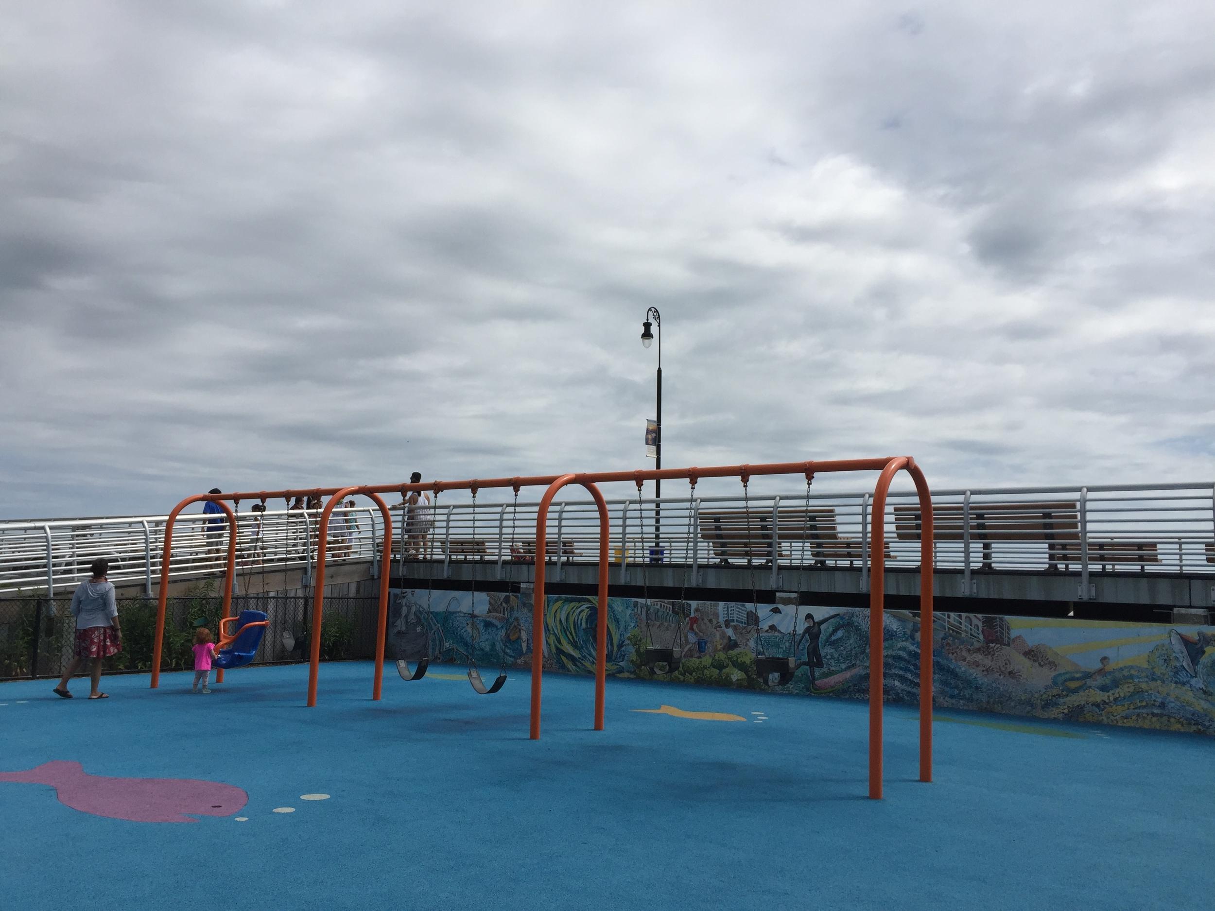 Swings at Magnolia Playground