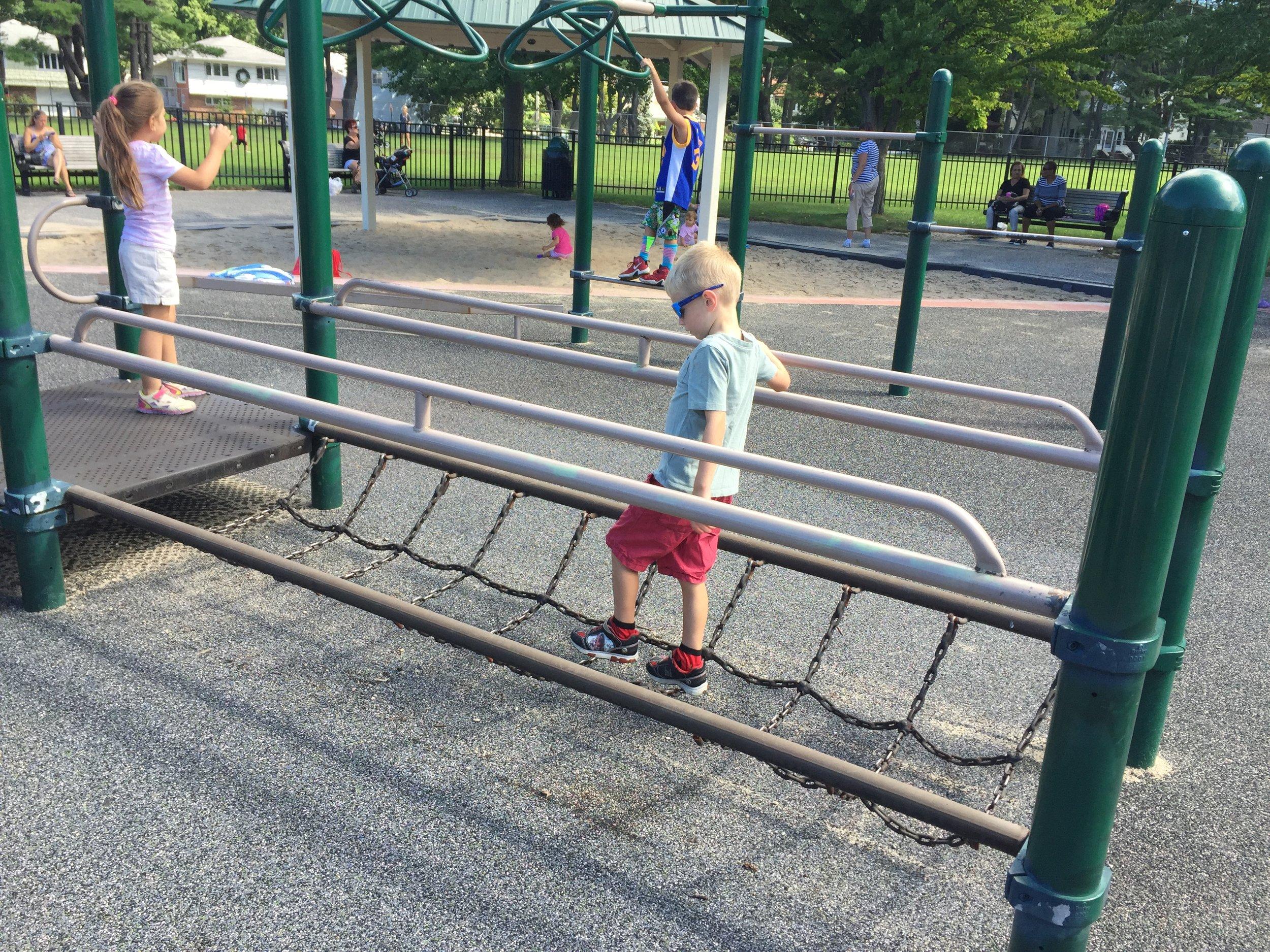 Playground at Heckscher Park