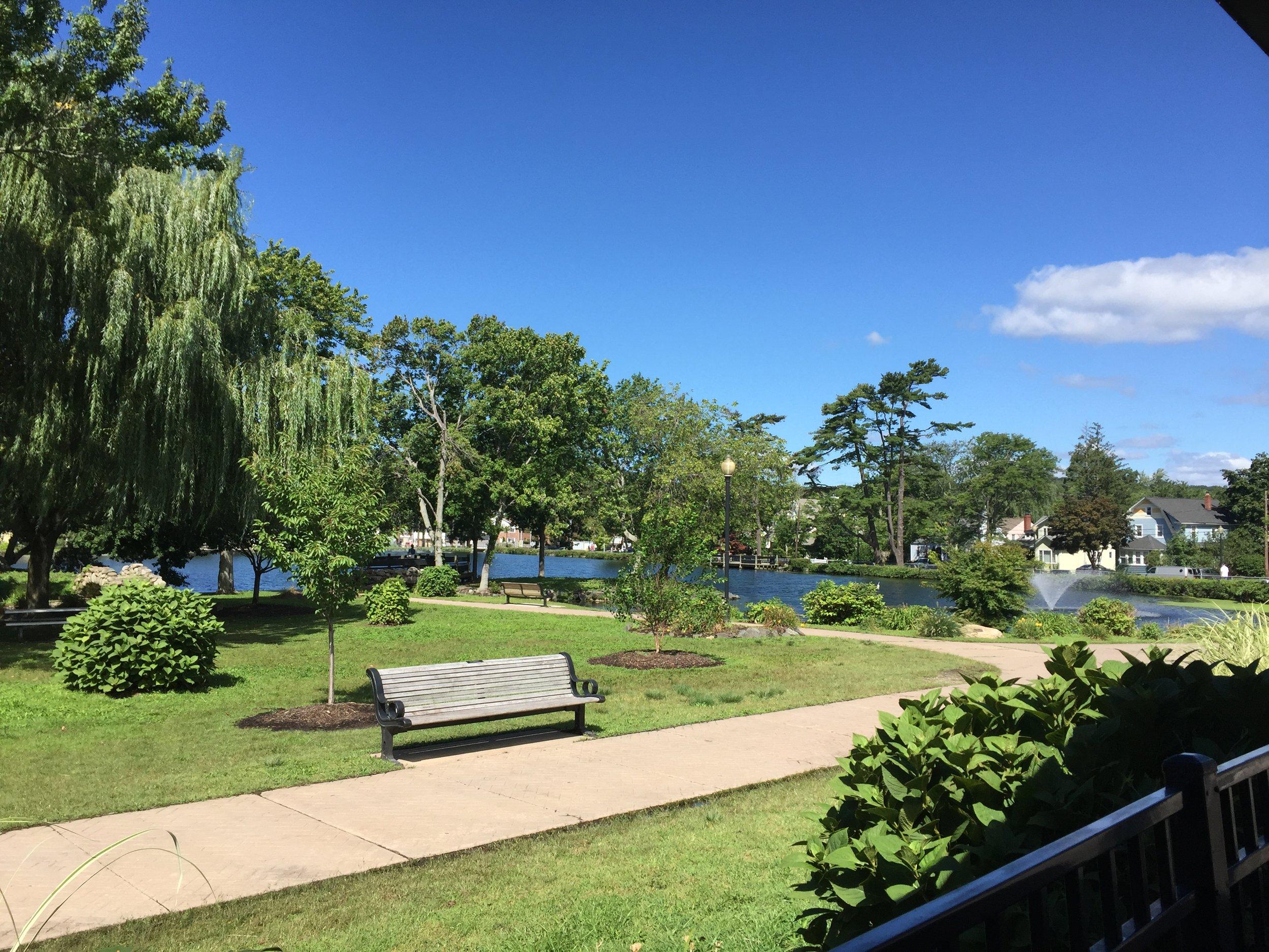 The view at Heckscher Park