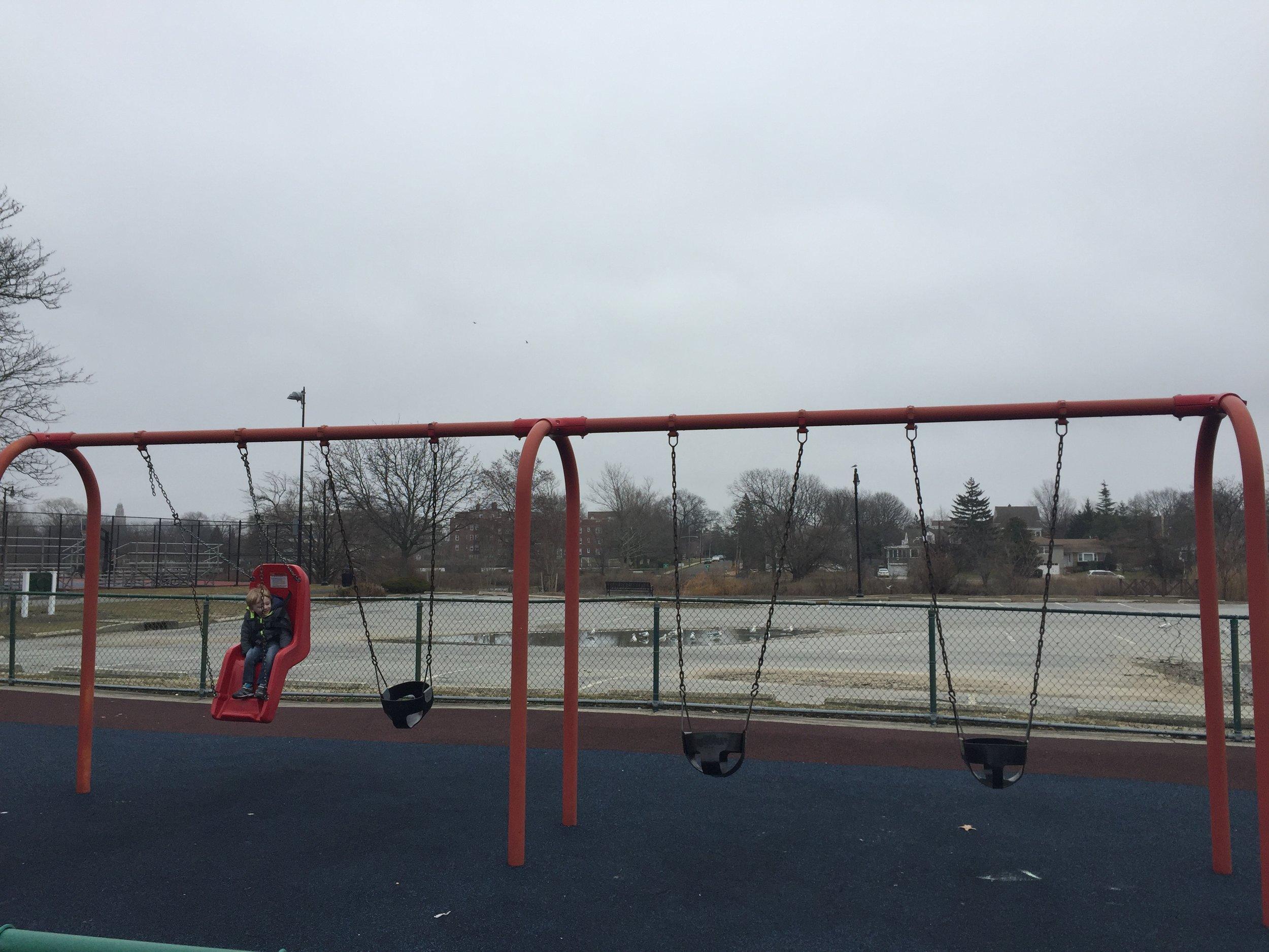 Swings at Centennial Playground
