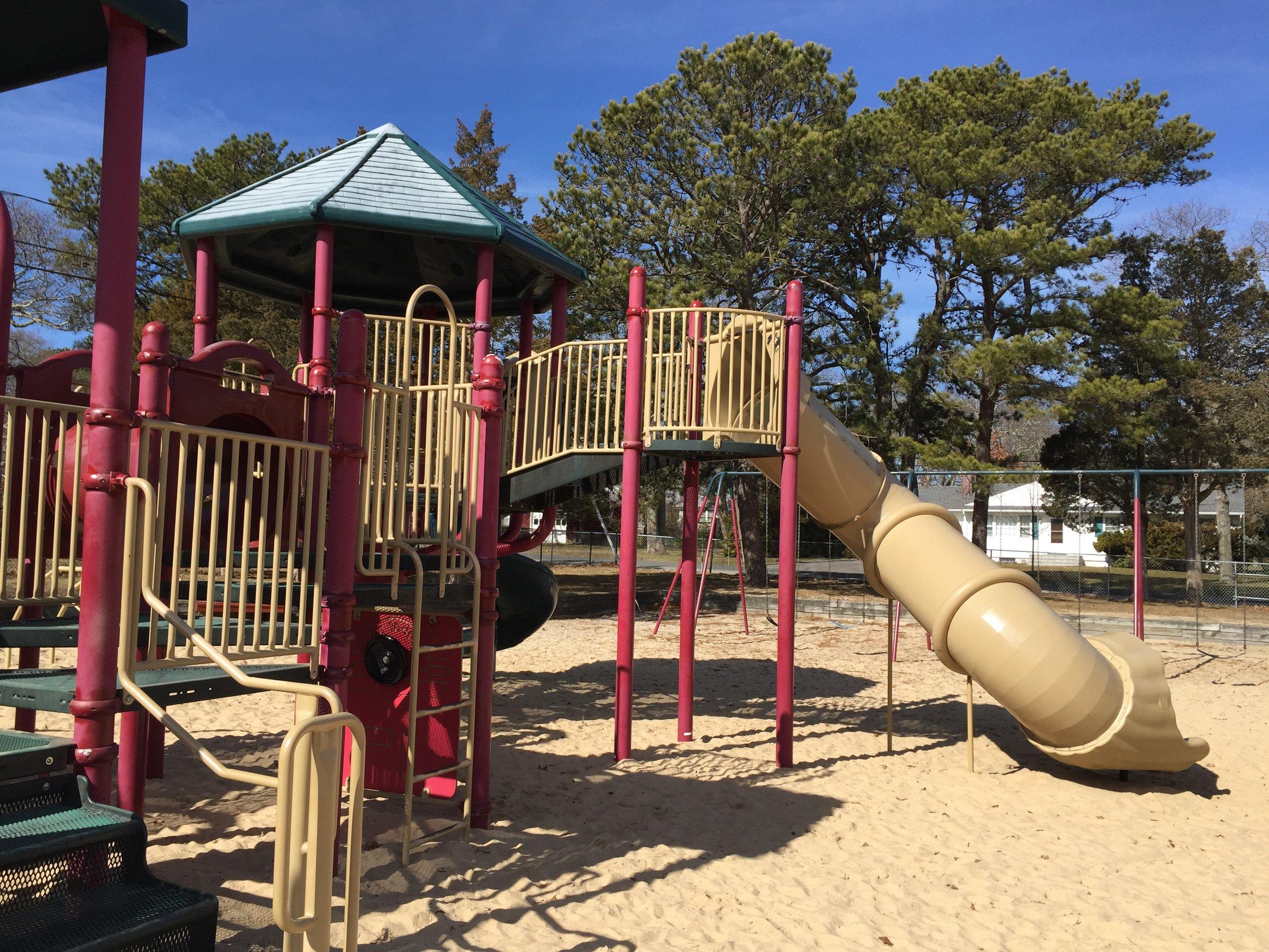 Slide at Veterans Beach Playground