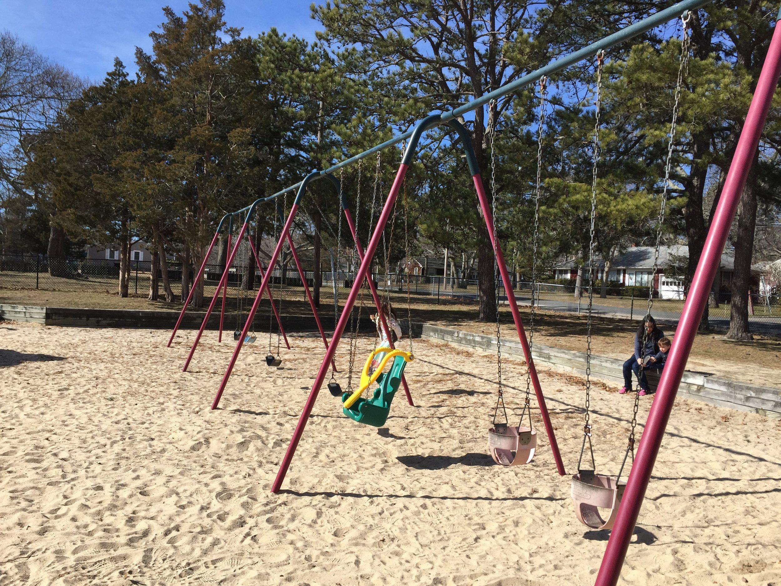 Swings at Veterans Beach Playground