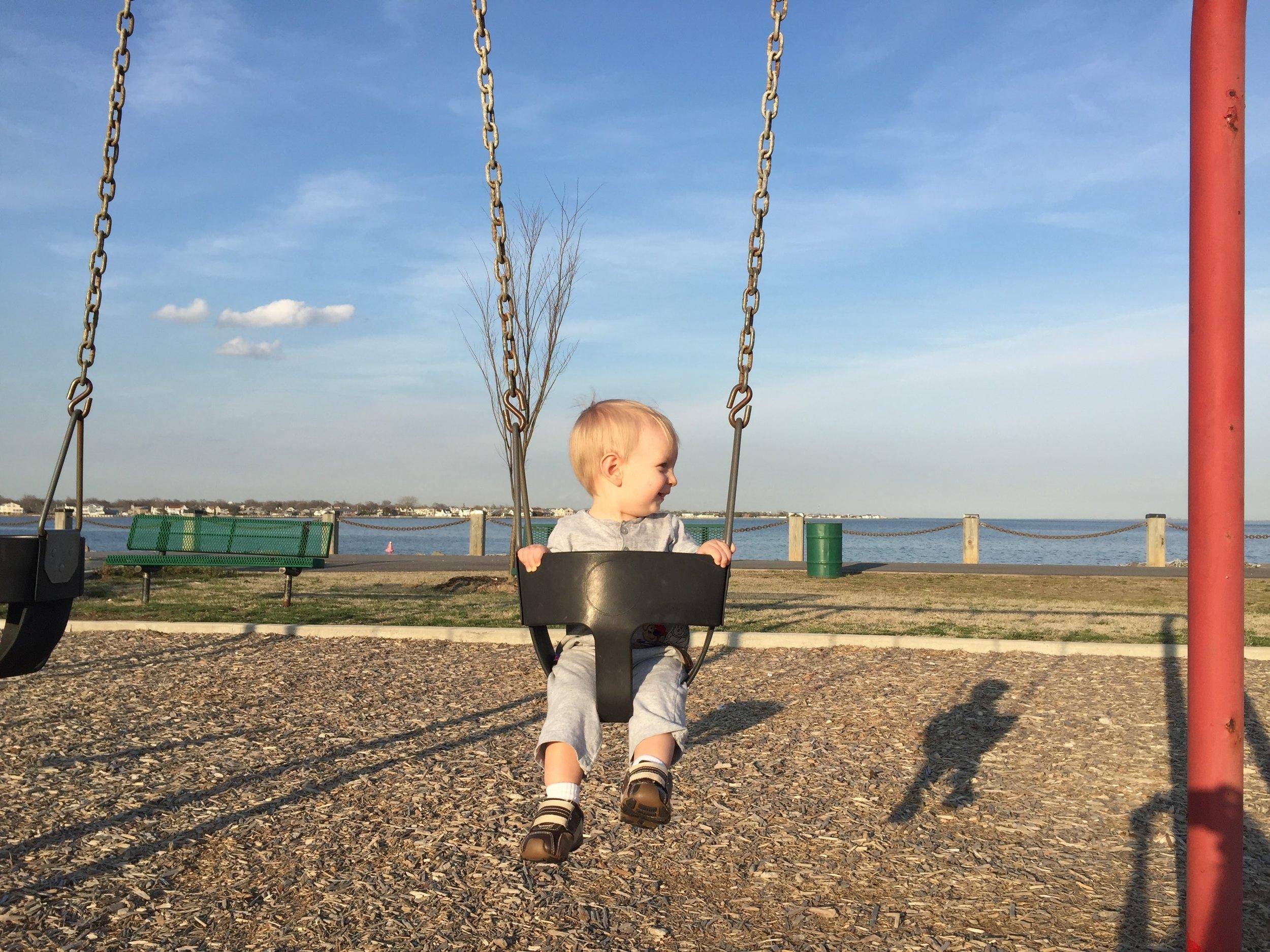 Swings at Nassau Shores Bayfront Park