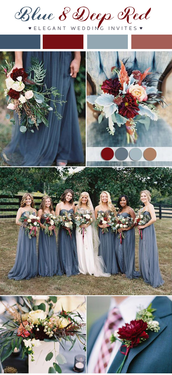 Add a lot of depth to your wedding color scheme with these rich hues.