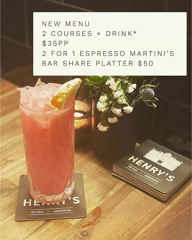Yo mama said .....book me a table 😉#henryslaunceston #newmenu #espressomartini #mothersday #platters