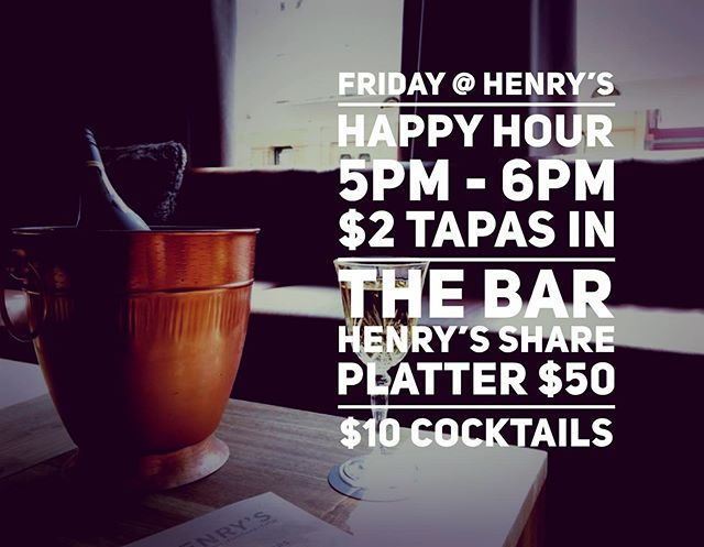 TGIF and Henry's is open 🙌#henryslaunceston #henryslauncestonbarandrestaurant #tgif #launcestonbars #launcestondining #platters #happyhour