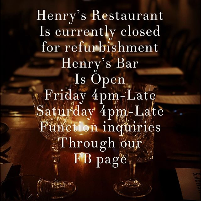 #henryslaunceston #henryslauncestonbarandrestaurant #launcestonbars #launcestondining #winterdrinks