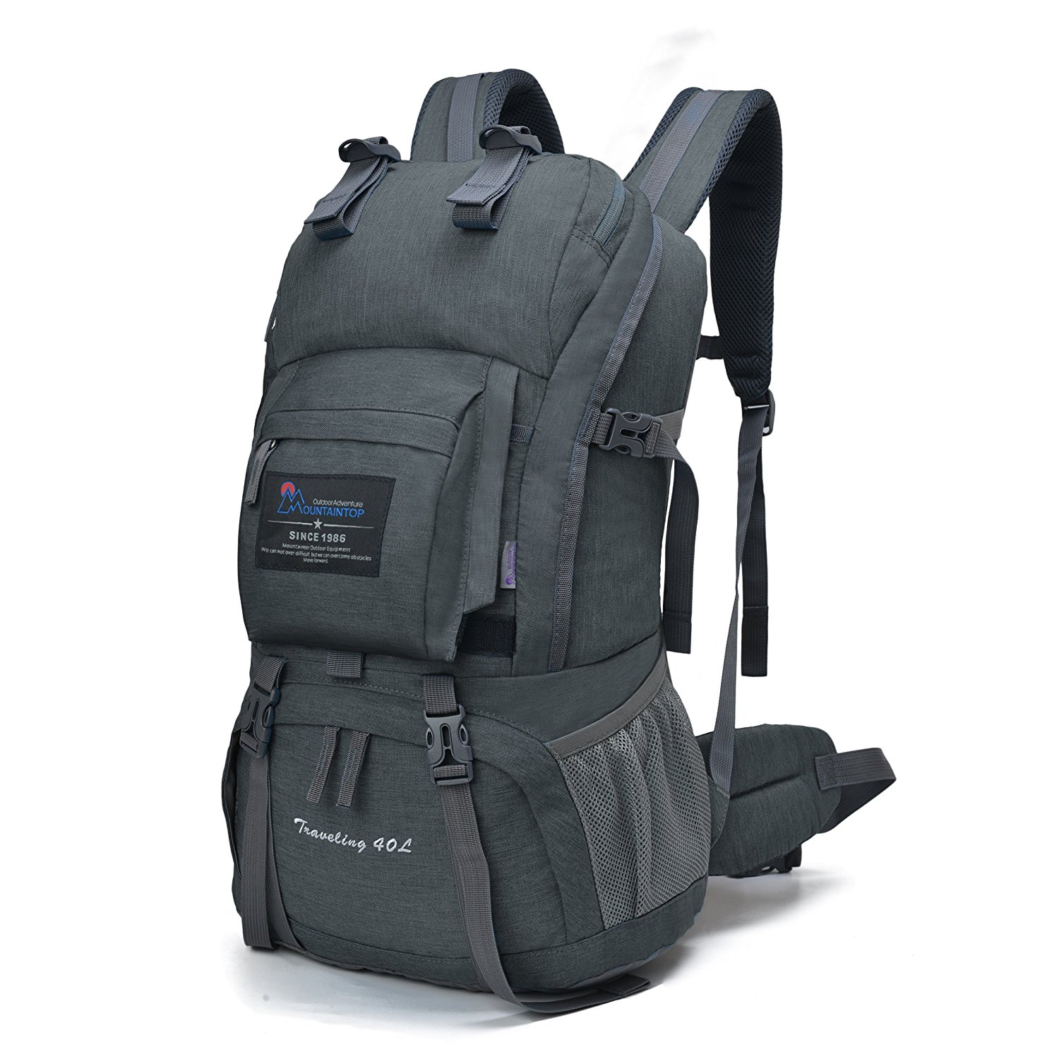 -  MOUNTAINTOP 40 LITER HIKING BACKPACK