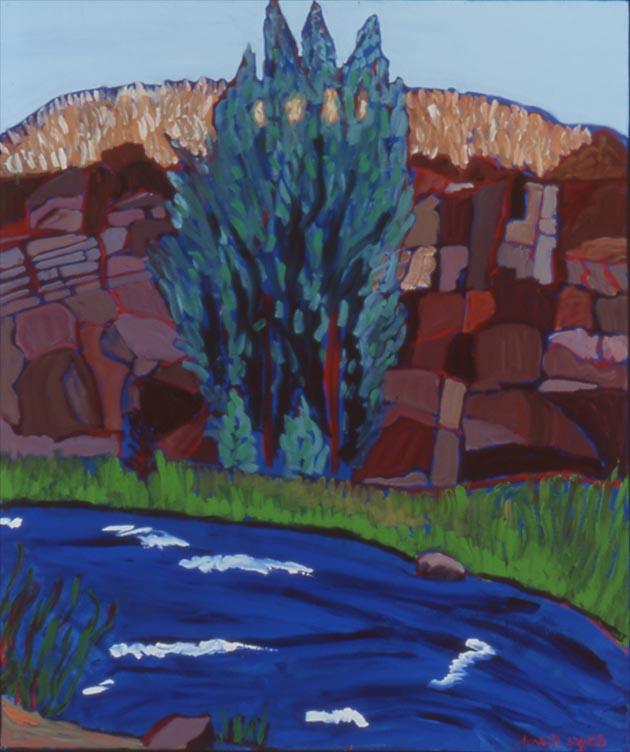 "The Hondo River at Penasco, Oil, 36""x30"""