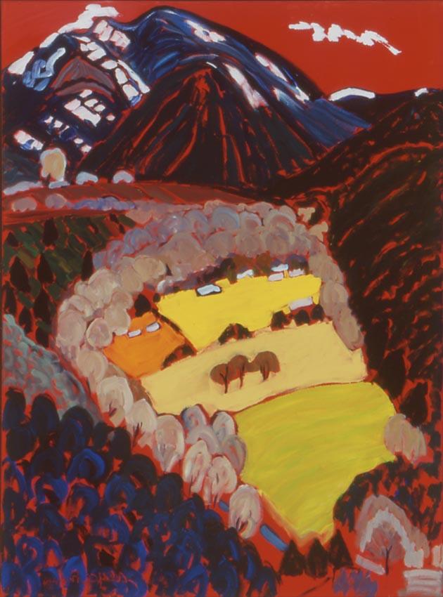 "Valdez From The Rim No.27, Oil, 40""x30"""