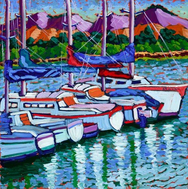 Bayside Harbor, Oil, 28x28