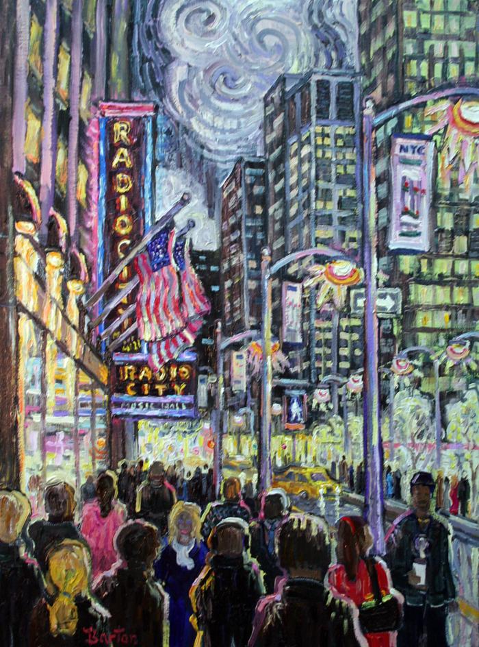 "New York City, 24"" x 20"""