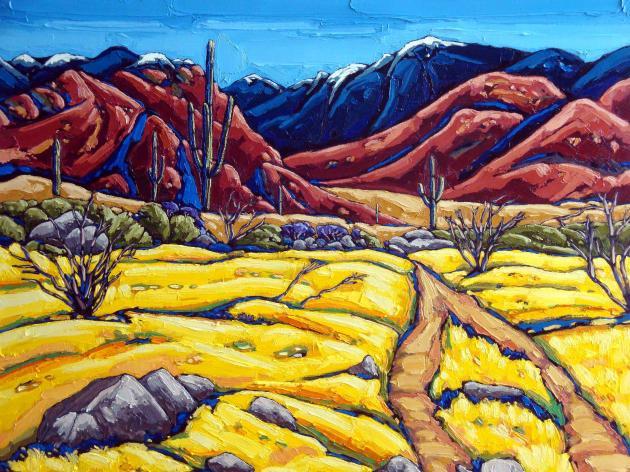Yellow Fields Catalina Spring, 24 x 30
