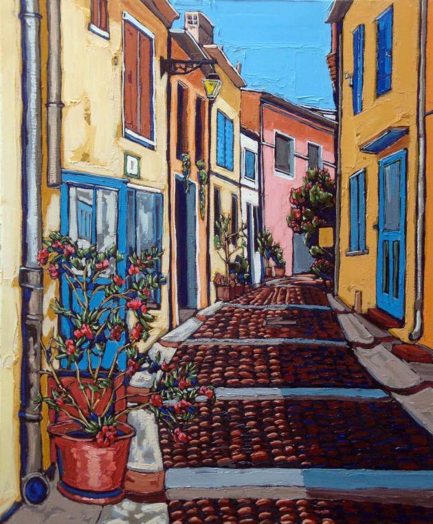 Alleyway at Arles, Oil on Canvas, 20x24