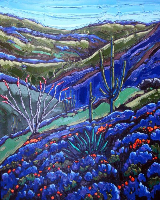 """Among the blue lupines, 24"""".x 20"""""""